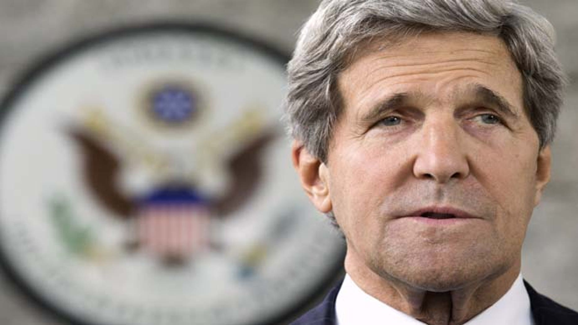 July 2, 2013: US Secretary of State John Kerry takes questions from the press in Brunei