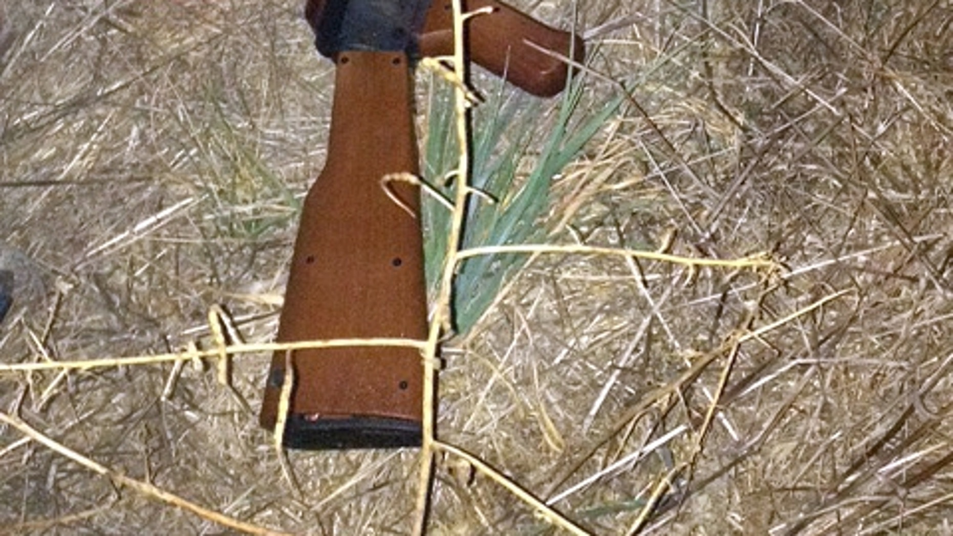 The replica rifle that was being carried by a 13-year-old boy in Santa Rosa, Calif., on Tuesday, Oct. 22, 2013.