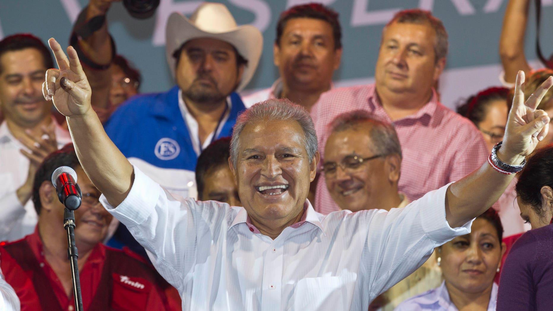Salvador Sanchez Cerén, president of El Salvador.