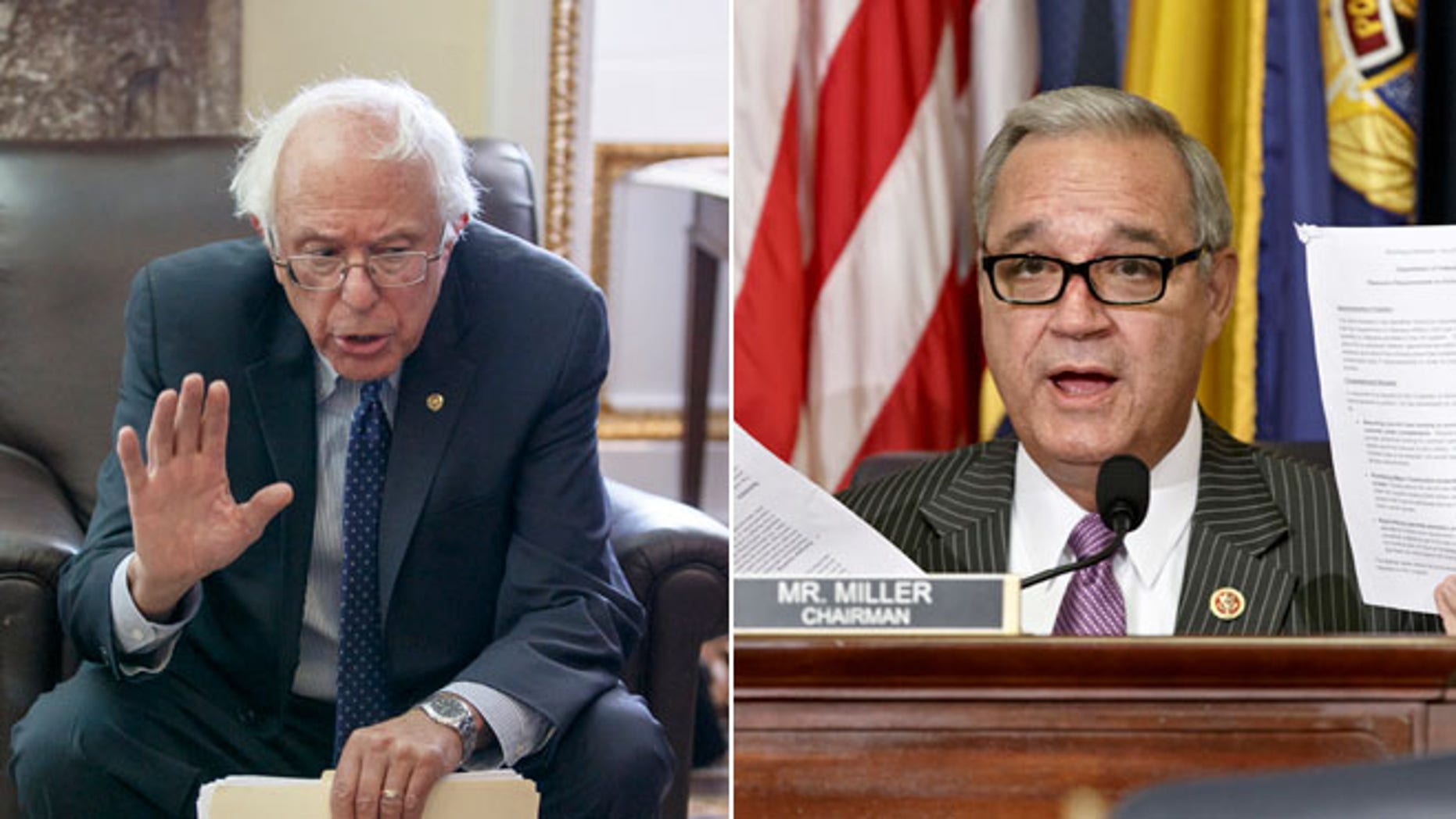 Senate Veterans Affairs Committee Chairman Sen. Bernie Sanders, I-Vt., Wednesday, July 23, 2014 and House Veterans Affairs Committee Chairman Jeff Miller, R-Fla., Thursday, July 24, 2014.