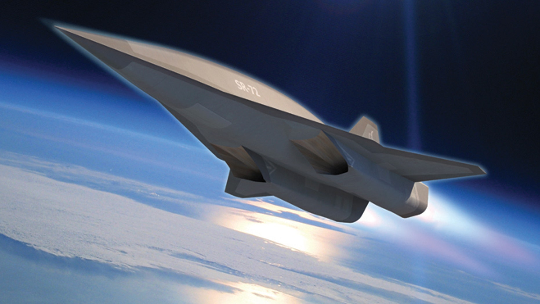 Artist's impression of the SR-72 .