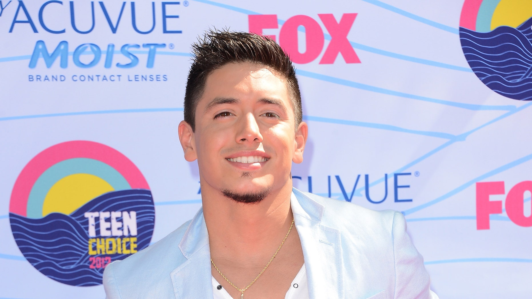 UNIVERSAL CITY, CA - JULY 22:  Singer Stefano Langone arrives at the 2012 Teen Choice Awards at Gibson Amphitheatre on July 22, 2012 in Universal City, California.  (Photo by Jason Merritt/Getty Images)