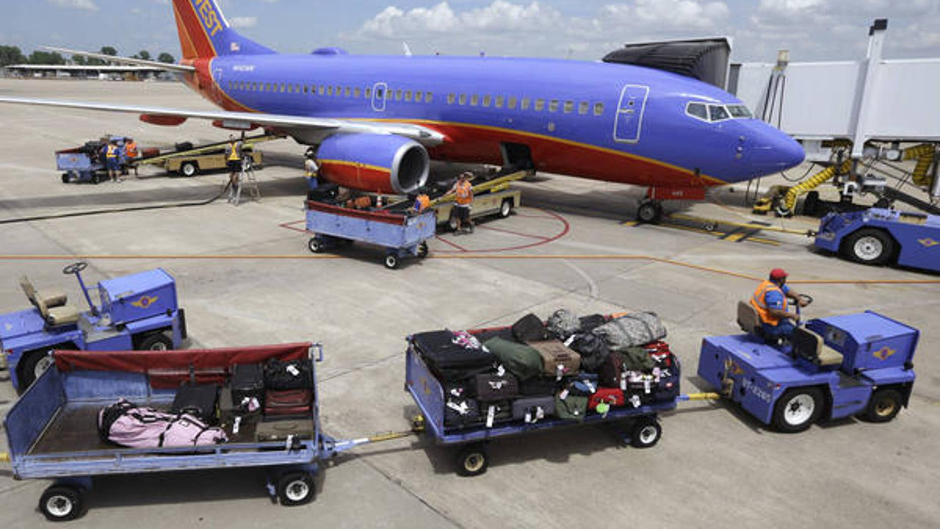 63e4a15ffd Southwest Airlines  No plans to start charging for checked luggage ...