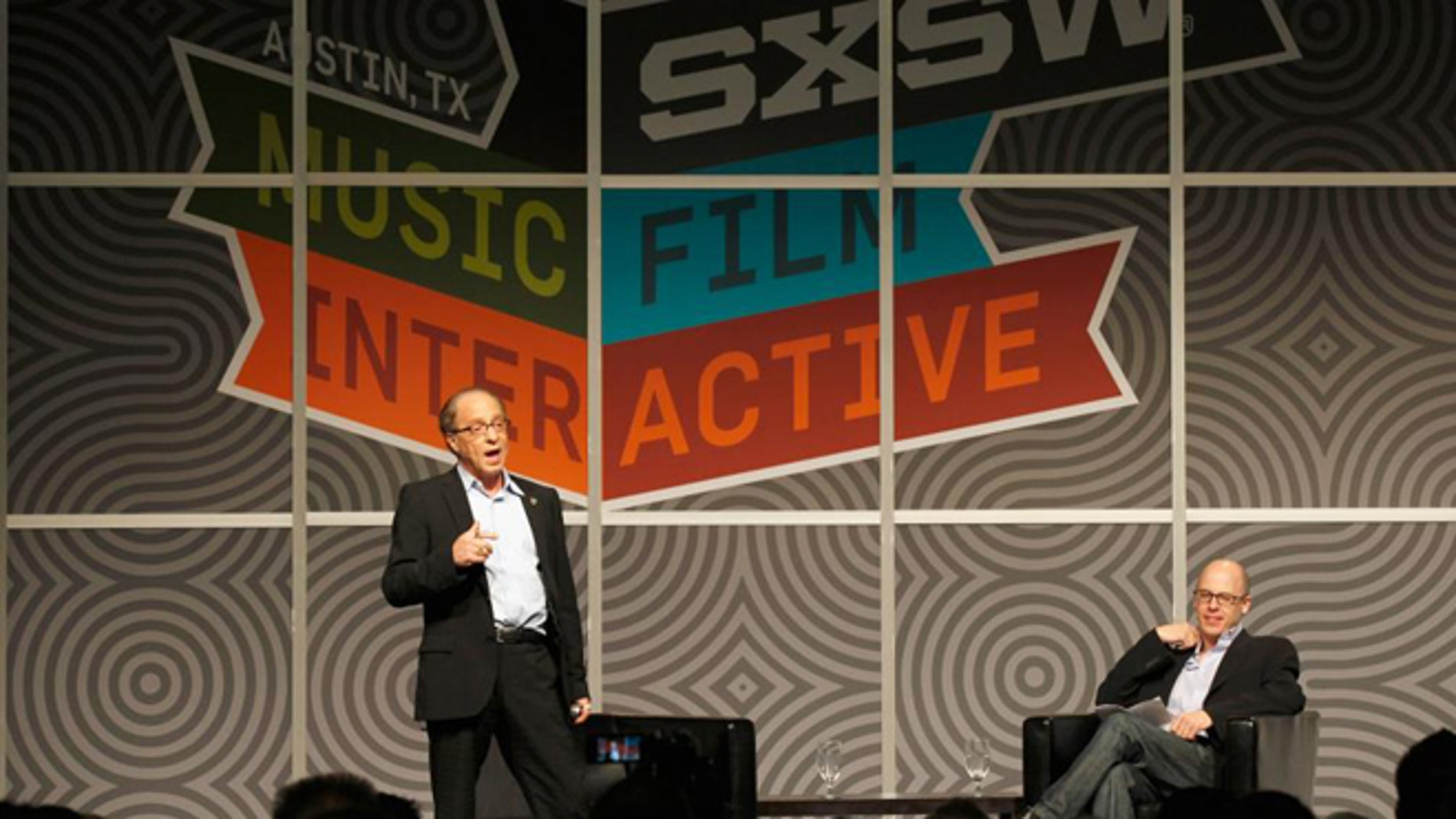 Ray Kurzweil and Sean Mathis, seen at the 2012 SXSWi show in Austin, Texas.