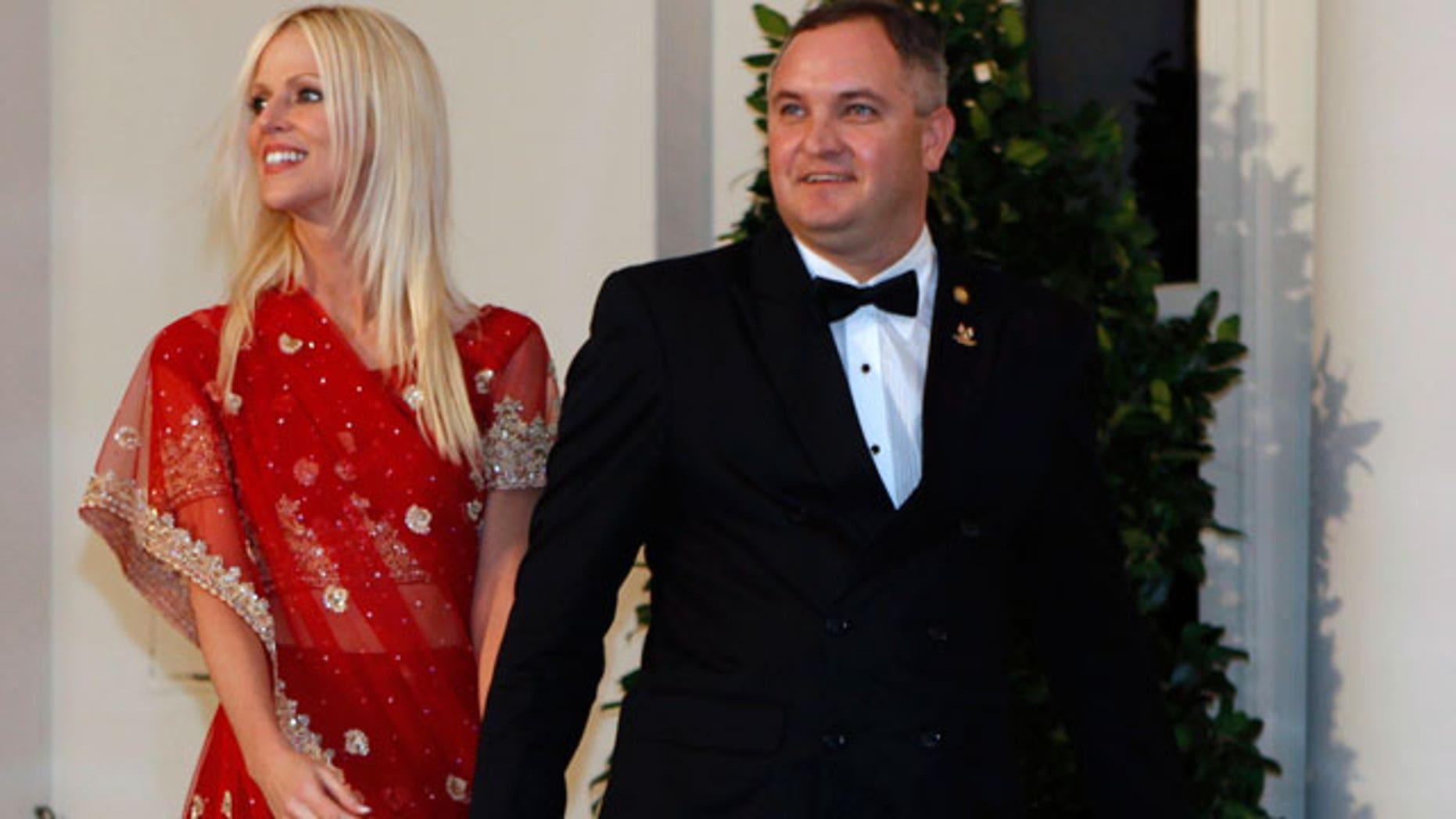 Michaele Salahi, shown here with her ex-husband Tariq.