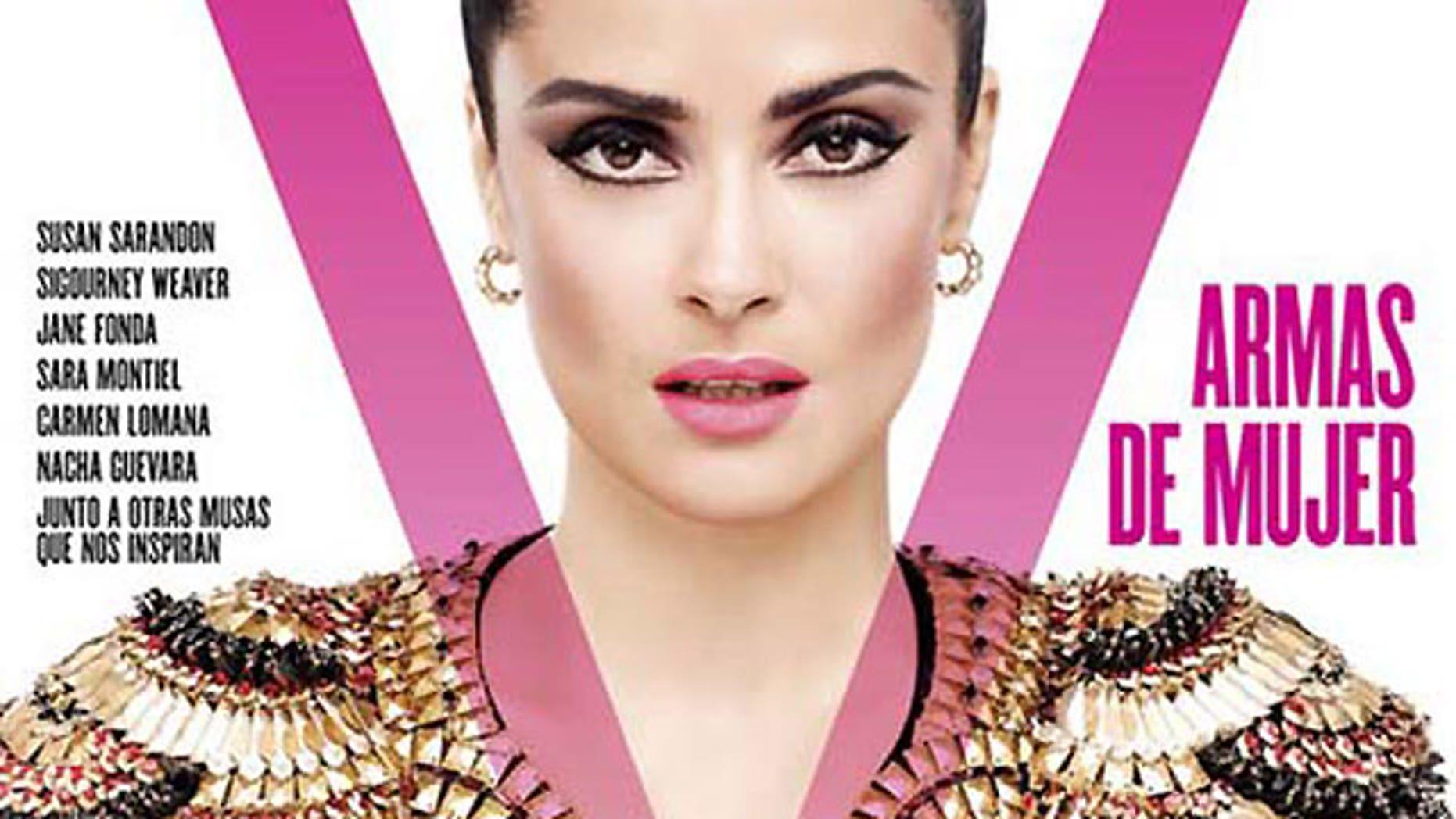 Salma Hayek on the cover of V Magazine Spain.