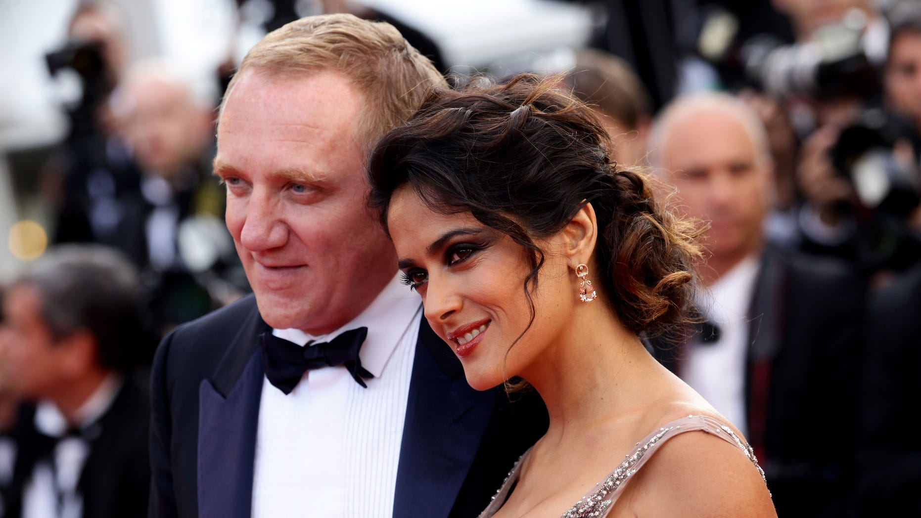 Salma Hayek revealed she shares intimate text messages with husband Francois-Henri Pinault.