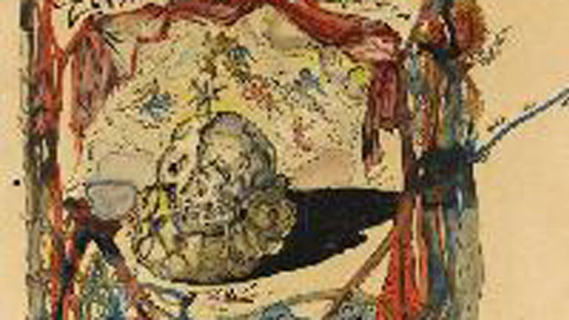 """This image provided by the New York Police Department shows a 1949 Salvador Dali painting, called """"Cartel des Don Juan Tenorio."""" inaugural exhibition."""