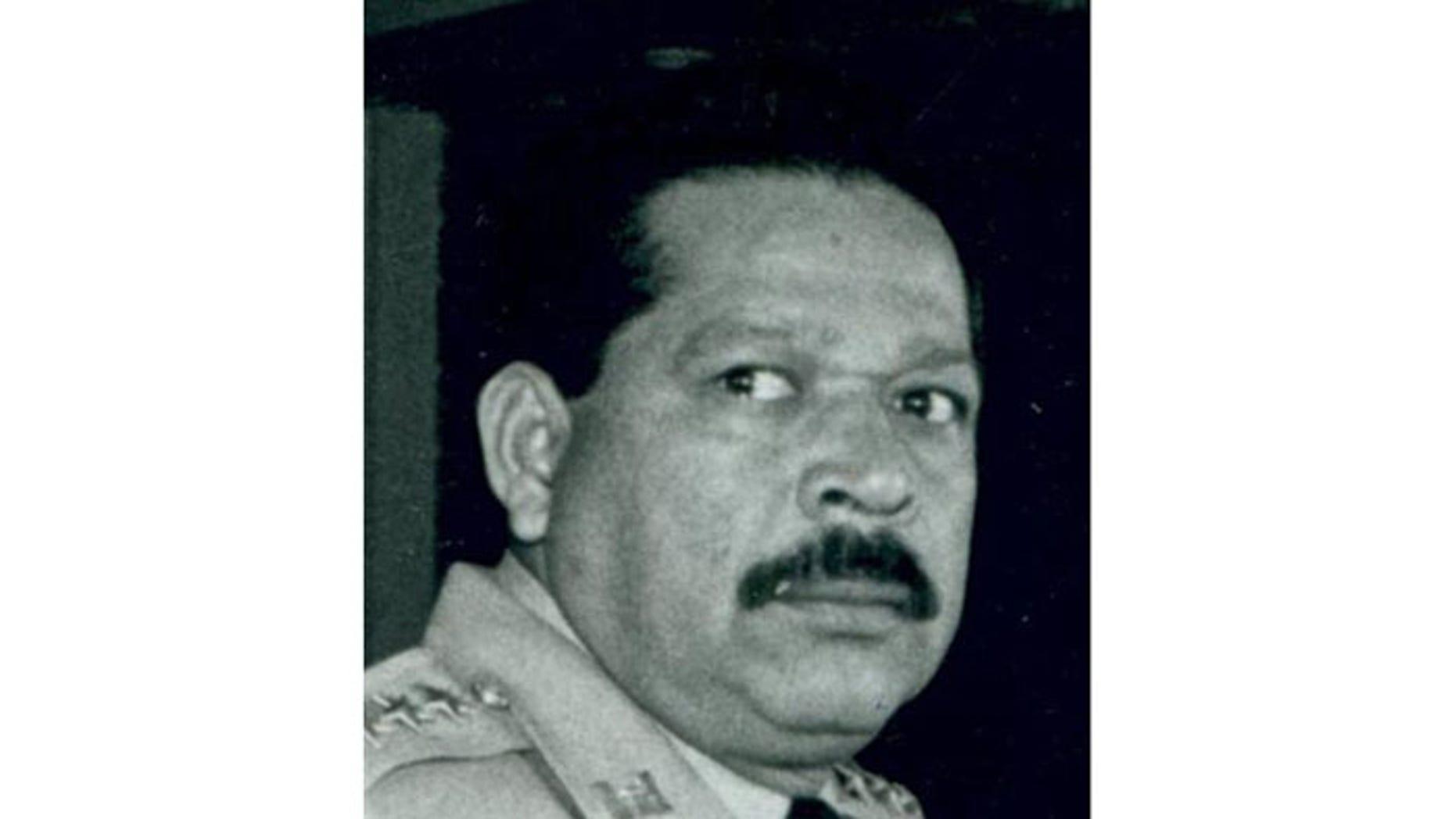 This undated photograph provided by La Prensa Grafica newspaper shows former Salvadoran official Inocente Orlando Montano in San Salvador, El Salvador.