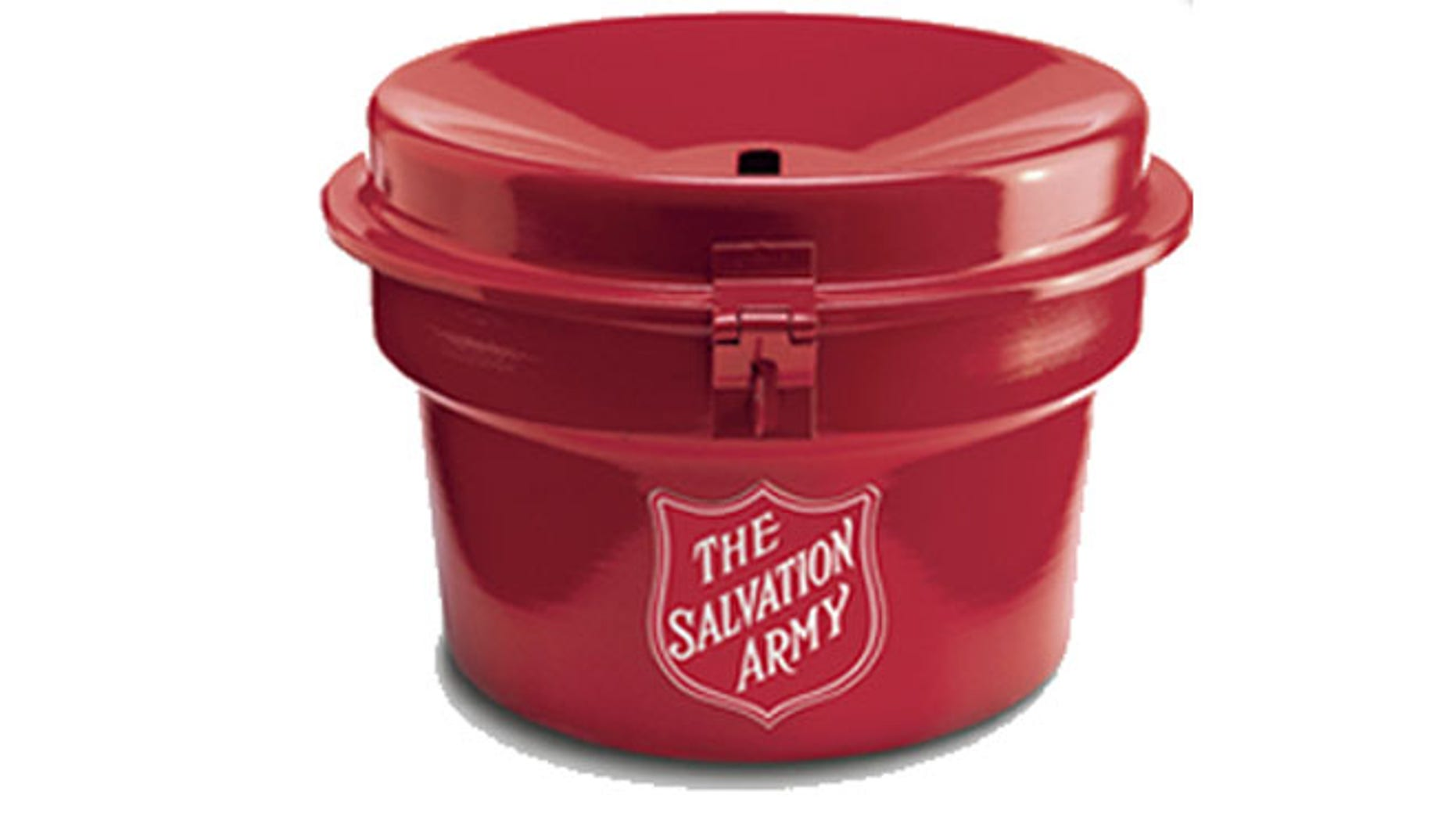 A Salvation Army worker was helping a grandmother walk through the doors at a mall when a thief made off with his kettle.
