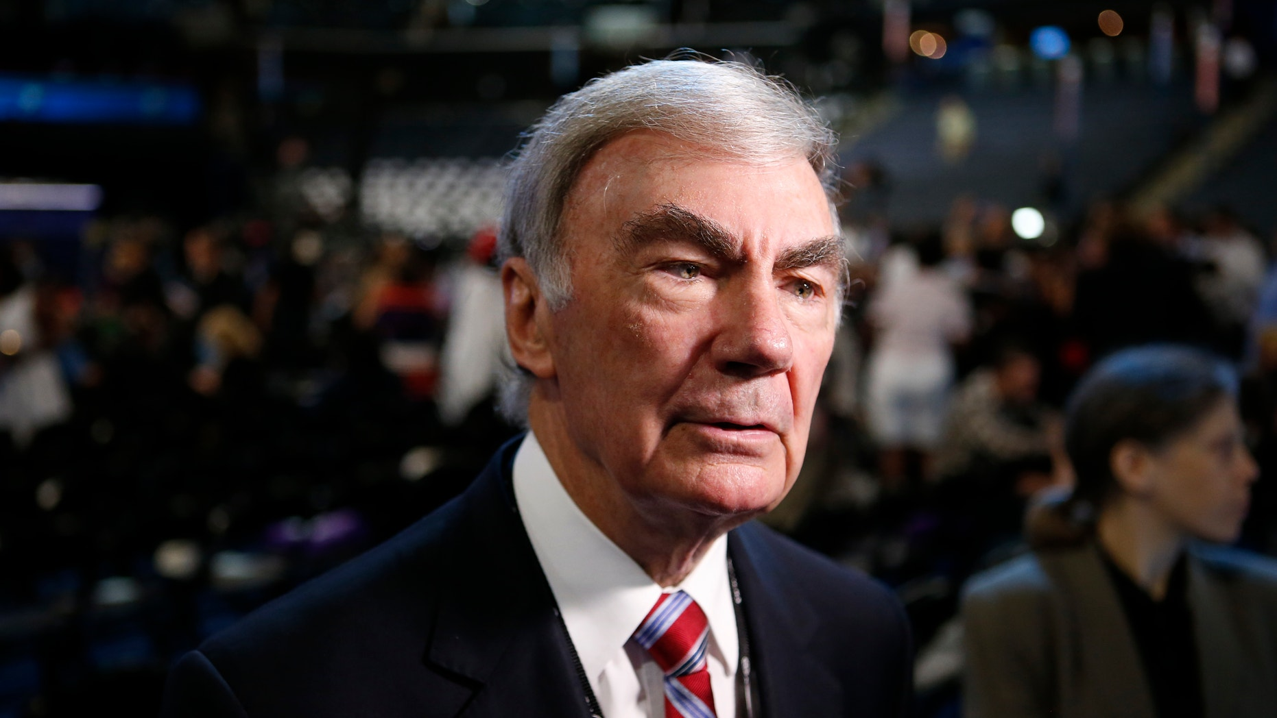 In this Sept. 5, 2012 file photo, Sam Donaldson is seen on the floor at the Democratic National Convention in Charlotte, N.C.