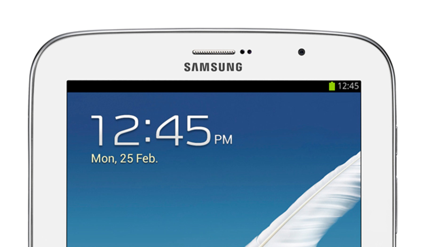 The Samsung Galaxy Note 8, a new tablet from the Korean company that sports a pen for writing on the screen.