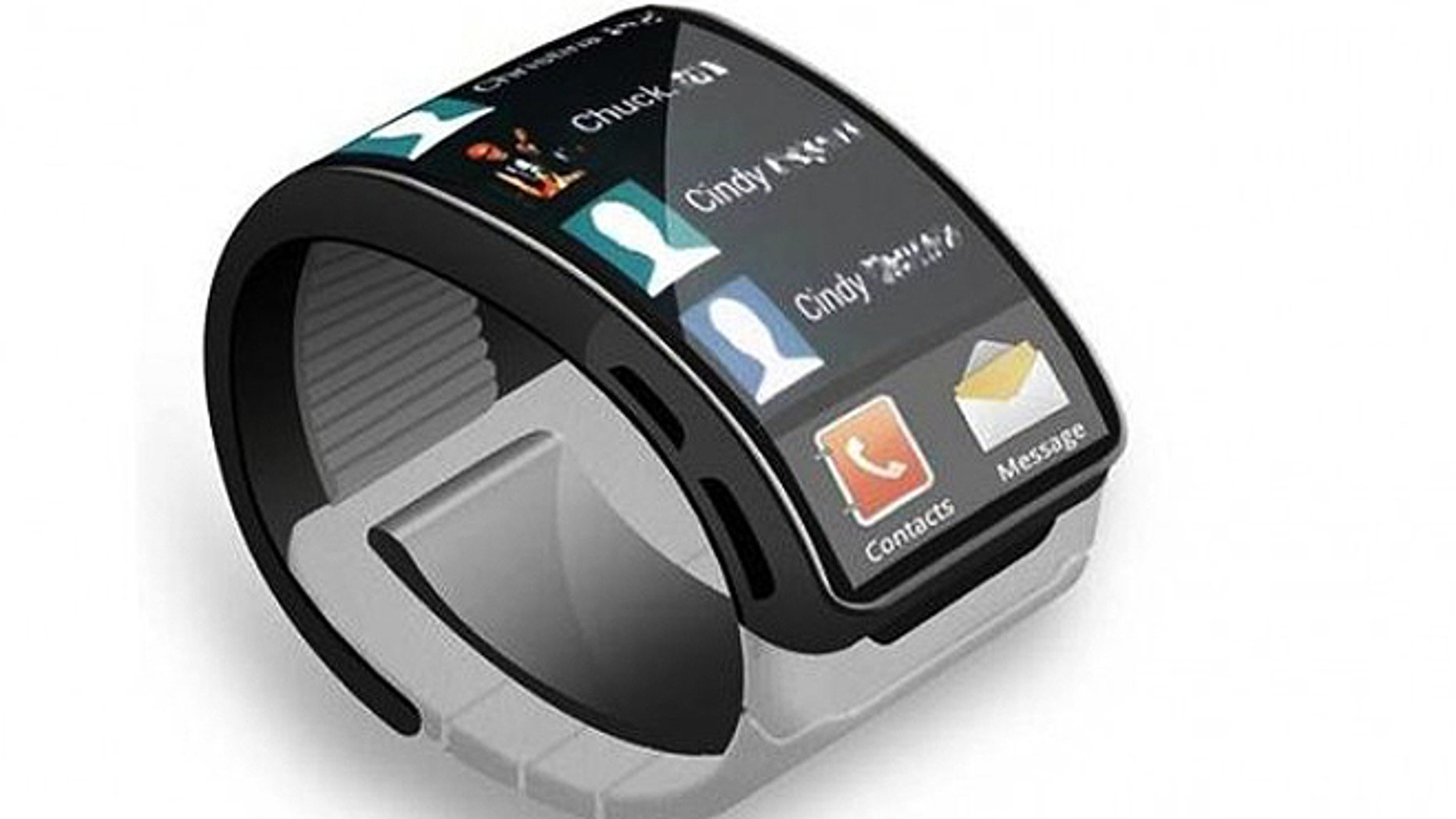 An artist's conception of what a Samsung smartwatch might look like.