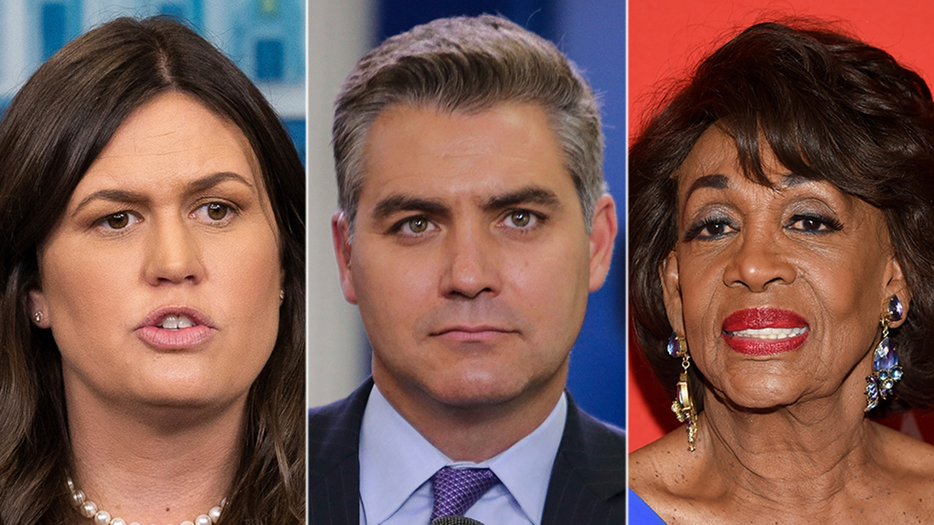 Sarah Sanders, Jim Acosta and Maxine Waters have united people on both sides of the political spectrum – but for different reasons.