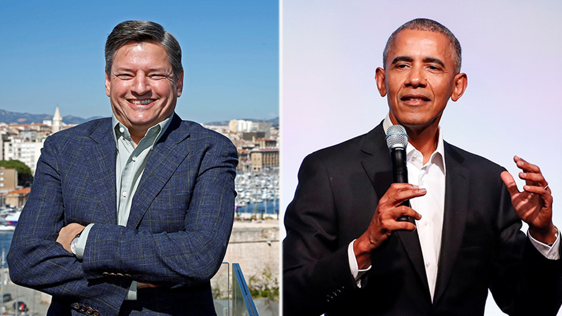 Netflix chief content officer Ted Sarandos (left), an Obama bundler, helped broker the deal to bring the Obamas to Netflix.