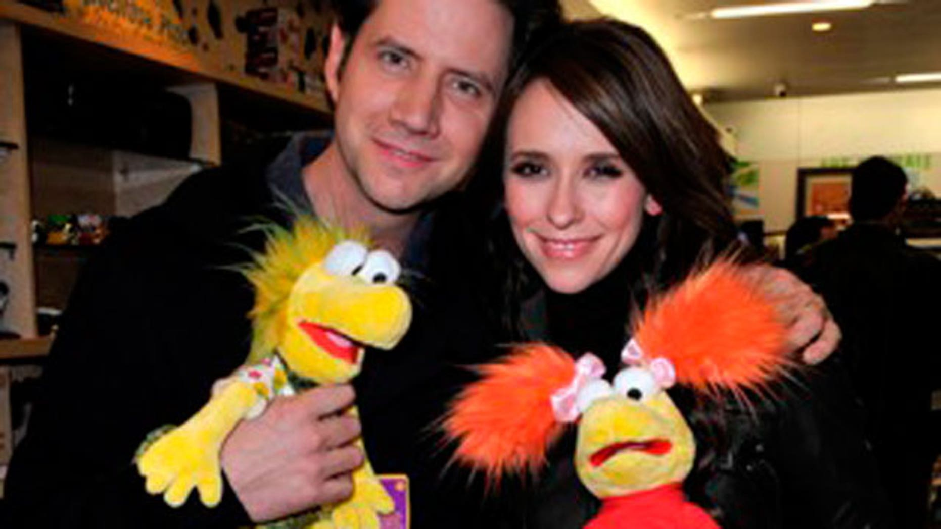 Jennifer Love Hewitt and beau Jamie Kennedy at the special presentation of the Fraggle Rock Volkswagon Routan at the Fraggle Rock Clothing & Costume Jewelry Collection party at Kitson in L.A.