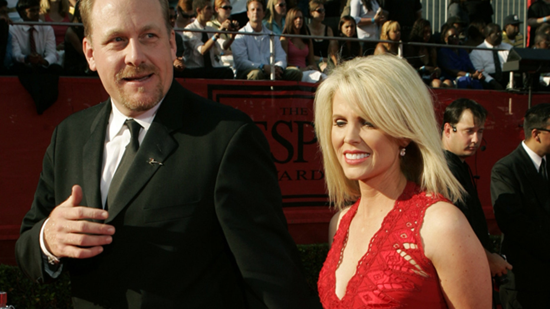FILE: Curt Shilling's wife, Shonda, announces on Twitter that the pitcher has completed his radiation treatment for cancer.