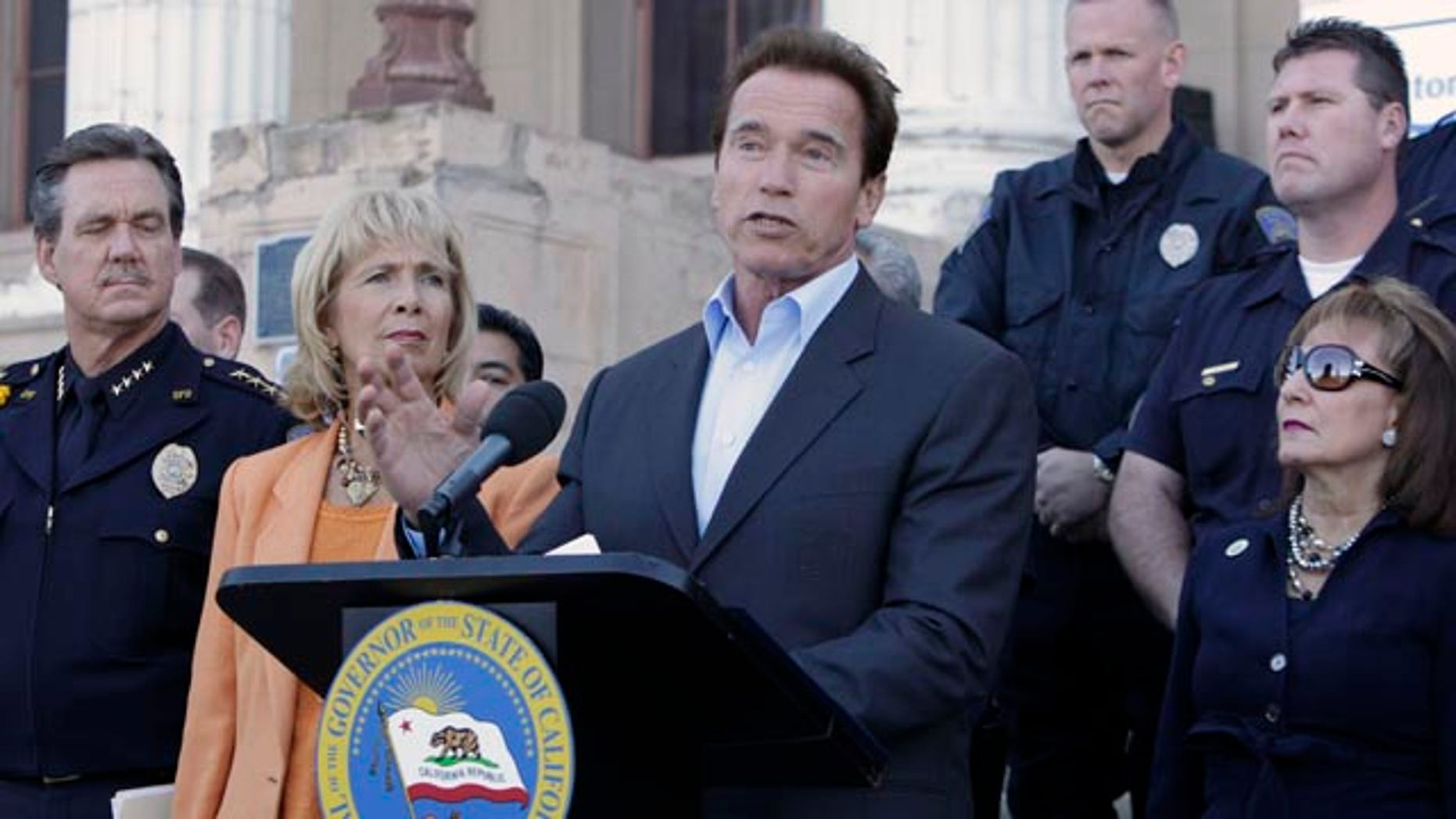Gov. Arnold Schwarzenegger shown here Nov. 8, announced on Nov. 12 a special session of the Legislature to address a $6 billion deficit that emerged just weeks after he signed the state budget.