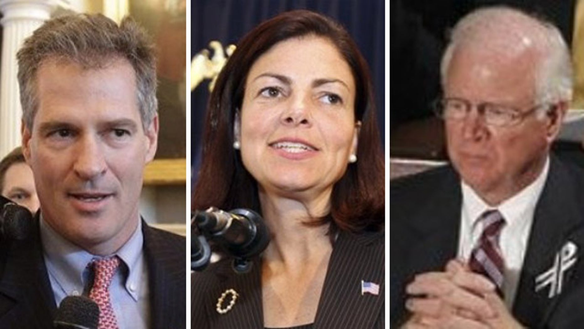 Shown here are Sens. Scott Brown, R-Mass., Kelly Ayotte, R-N.H., and Saxby Chambliss, R-Ga.