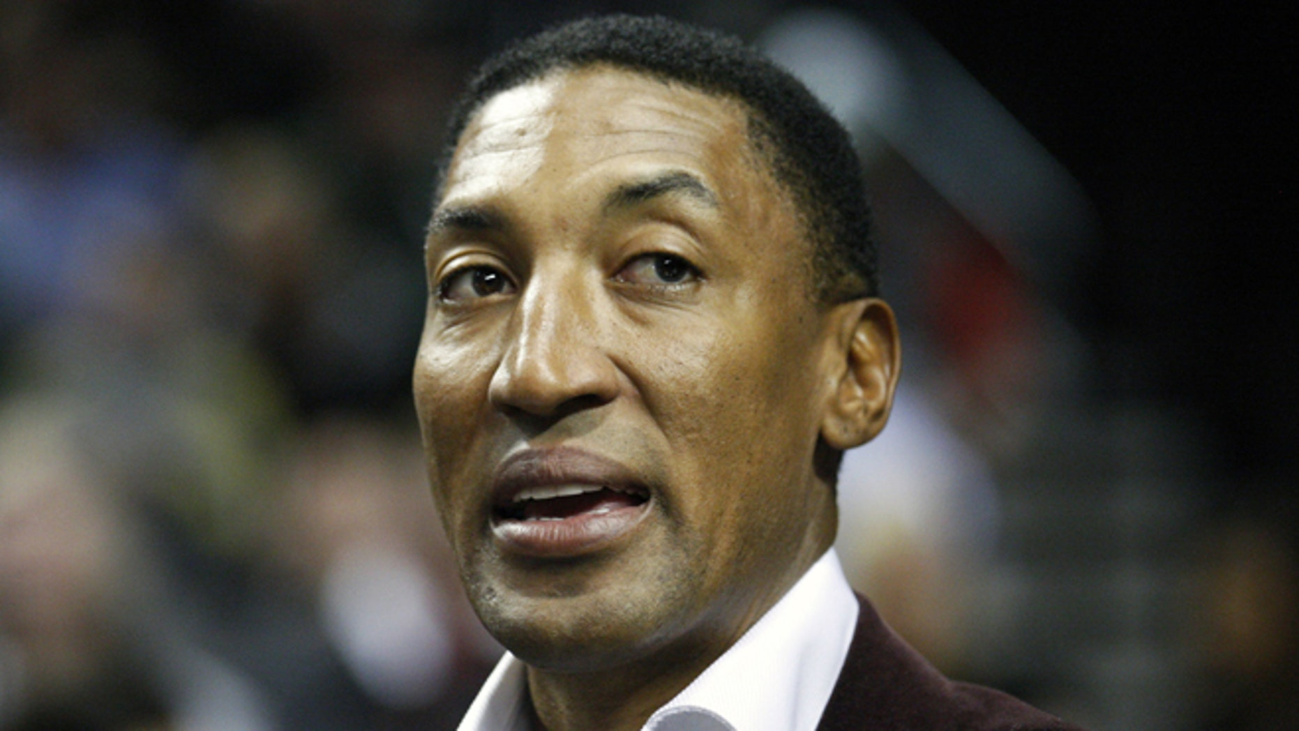 March 1, 2012: This file photo shows former NBA player Scottie Pippen during an NBA basketball game in Portland, Ore.