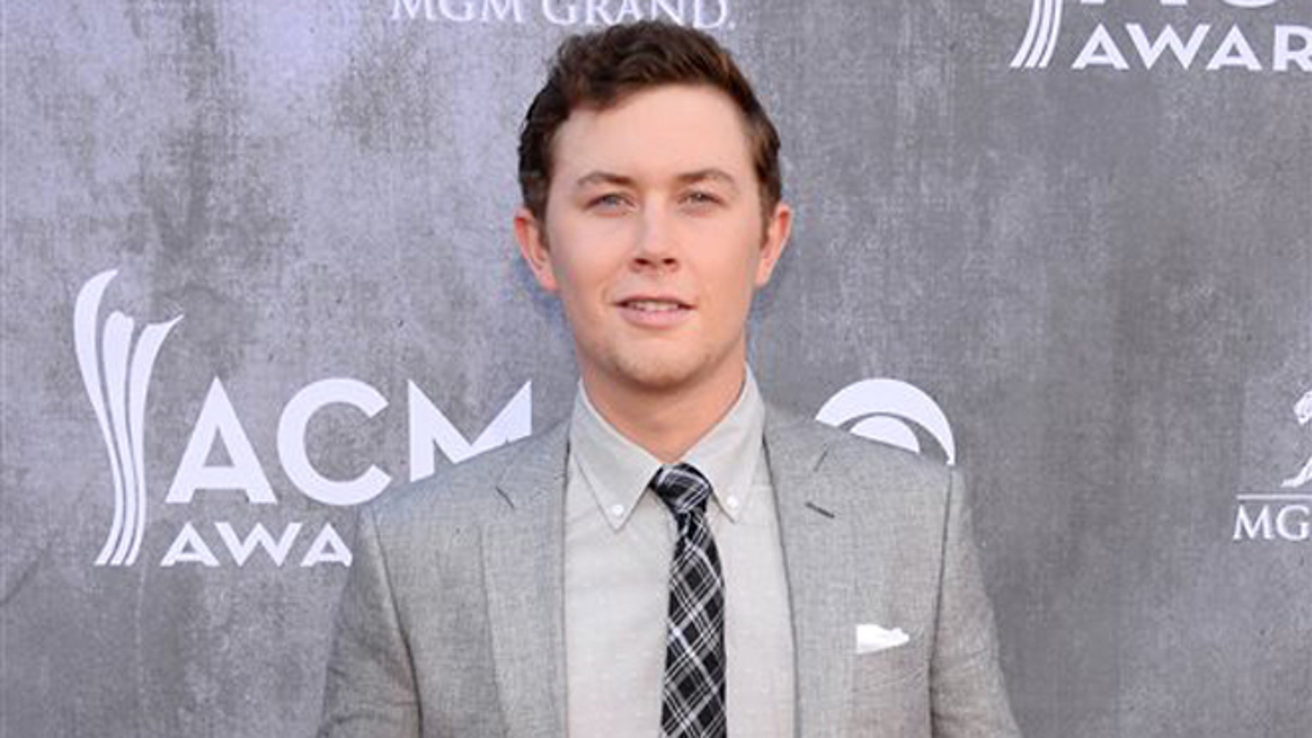 Scotty McCreery at the 49th annual Academy of Country Music Awards in Las Vegas, on April 6, 2014.