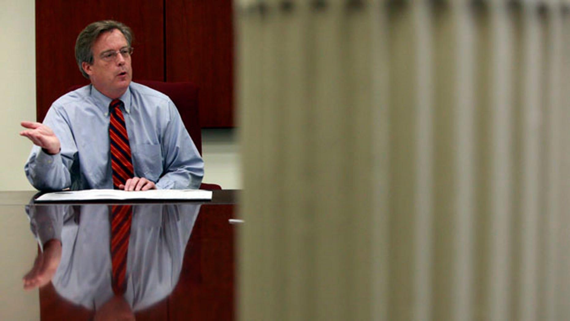 Scranton Mayor Christopher Doherty at city hall in Scranton, Pennsylvania July 13, 2012.