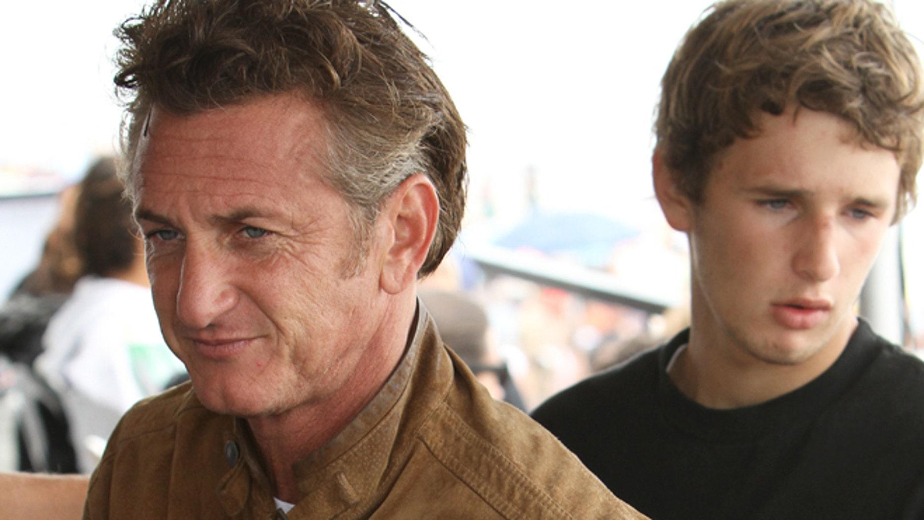 Sean Penn and his son Hopper. Aug. 5, 2010