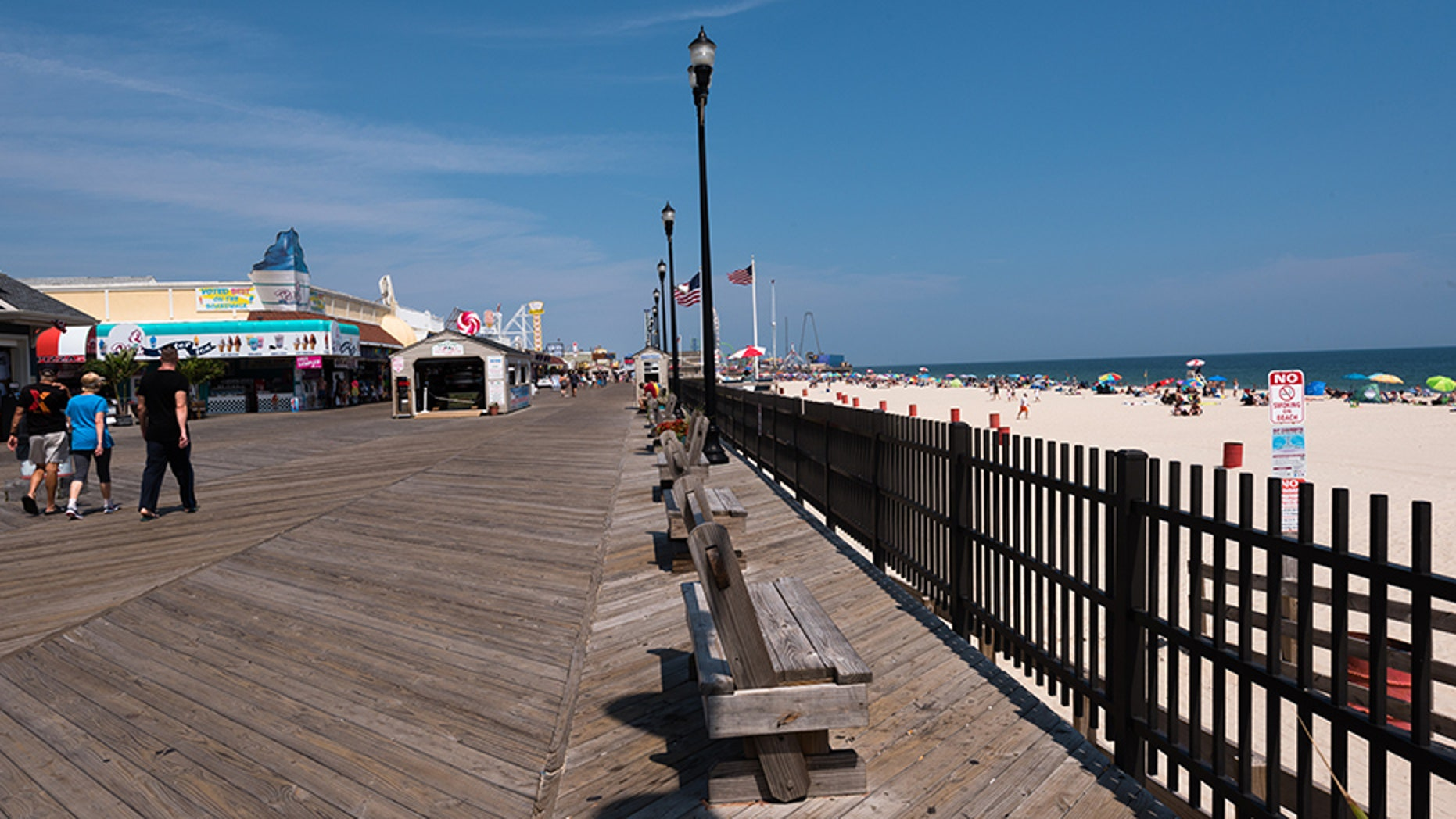 An estimated 15,000 revelers showed up on the boardwalk and beachfront of Seaside Heights, New Jersey as a result of the social media post about a party.