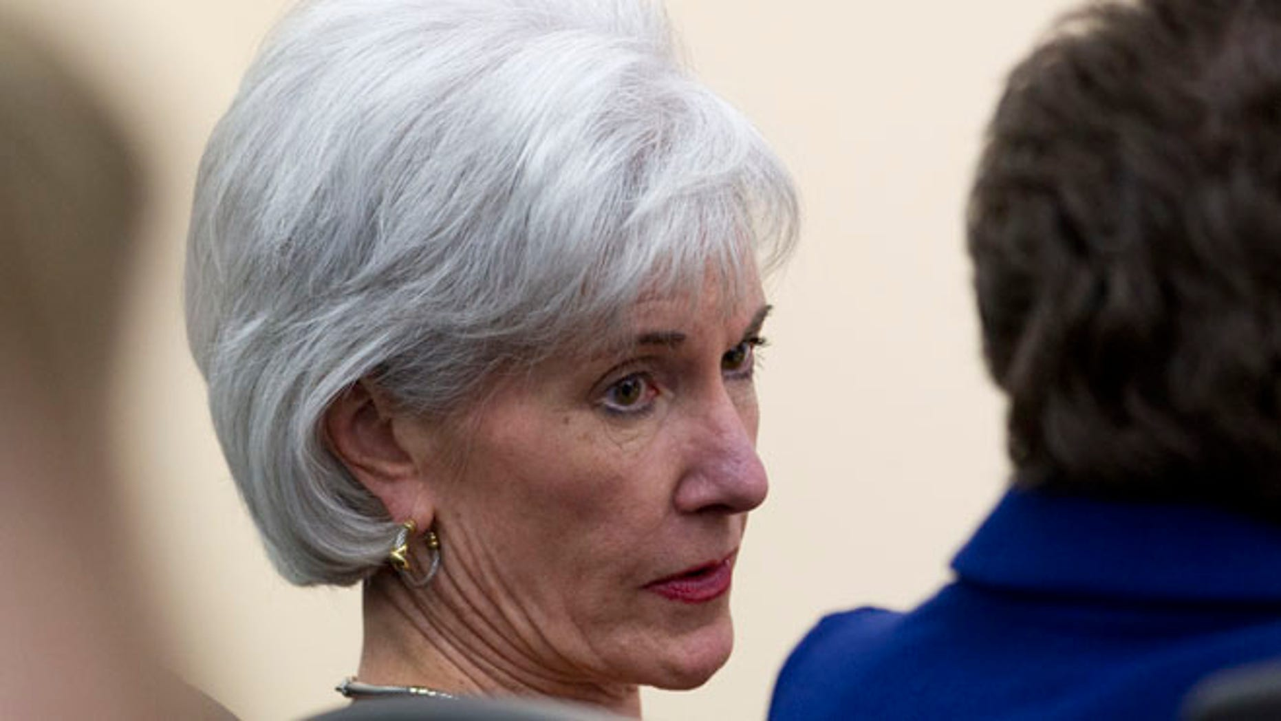 Health and Human Services Secretary Kathleen Sebelius, Tuesday, Dec. 3, 2013, at the White House complex in Washington.