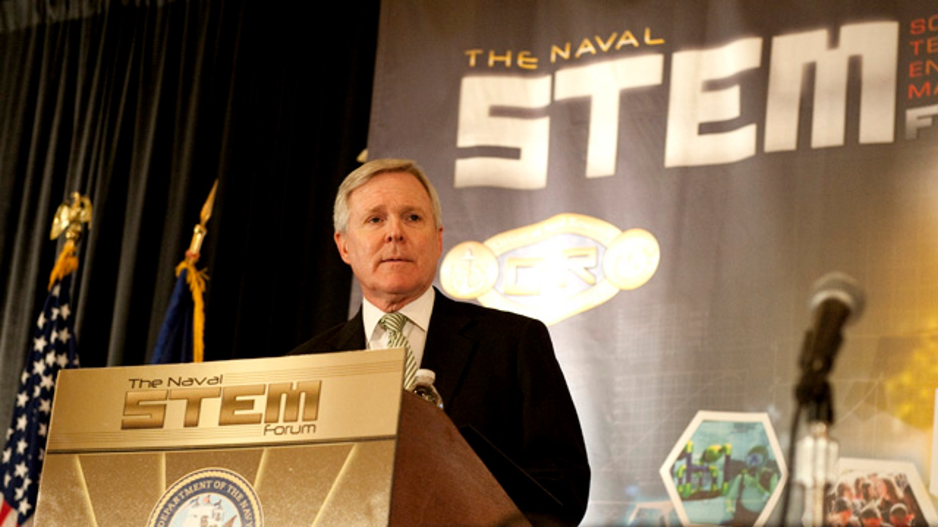 Jun. 15, 2011: Secretary of the Navy Ray Mabus presents the Navy's science, technology, engineering and mathematics (STEM) strategy at the Naval STEM Forum, hosted by the Office of Naval Research in Alexandria, Va.