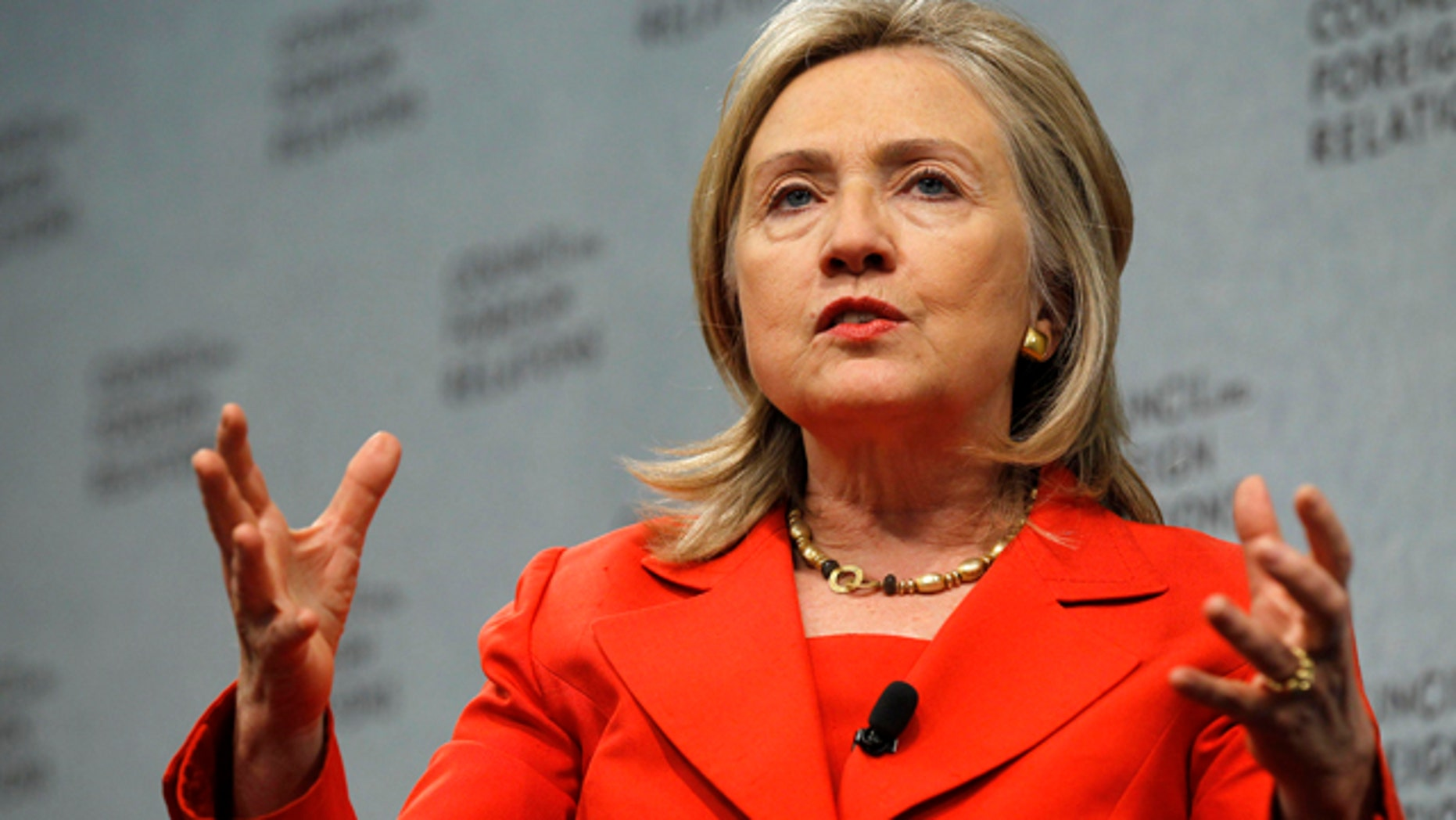 Sept. 8: Secretary of State Hillary Rodham Clinton speaks at the Council on Foreign Relations in Washington.