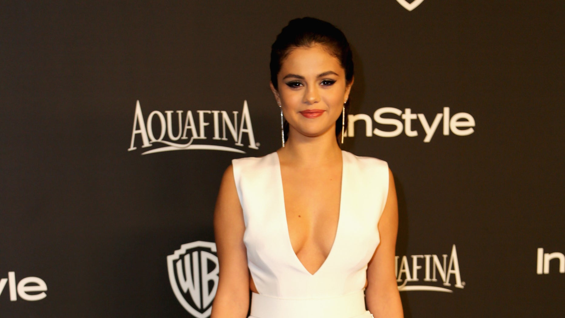 Selena Gomez at The Beverly Hilton Hotel on January 11, 2015 in Beverly Hills, California.