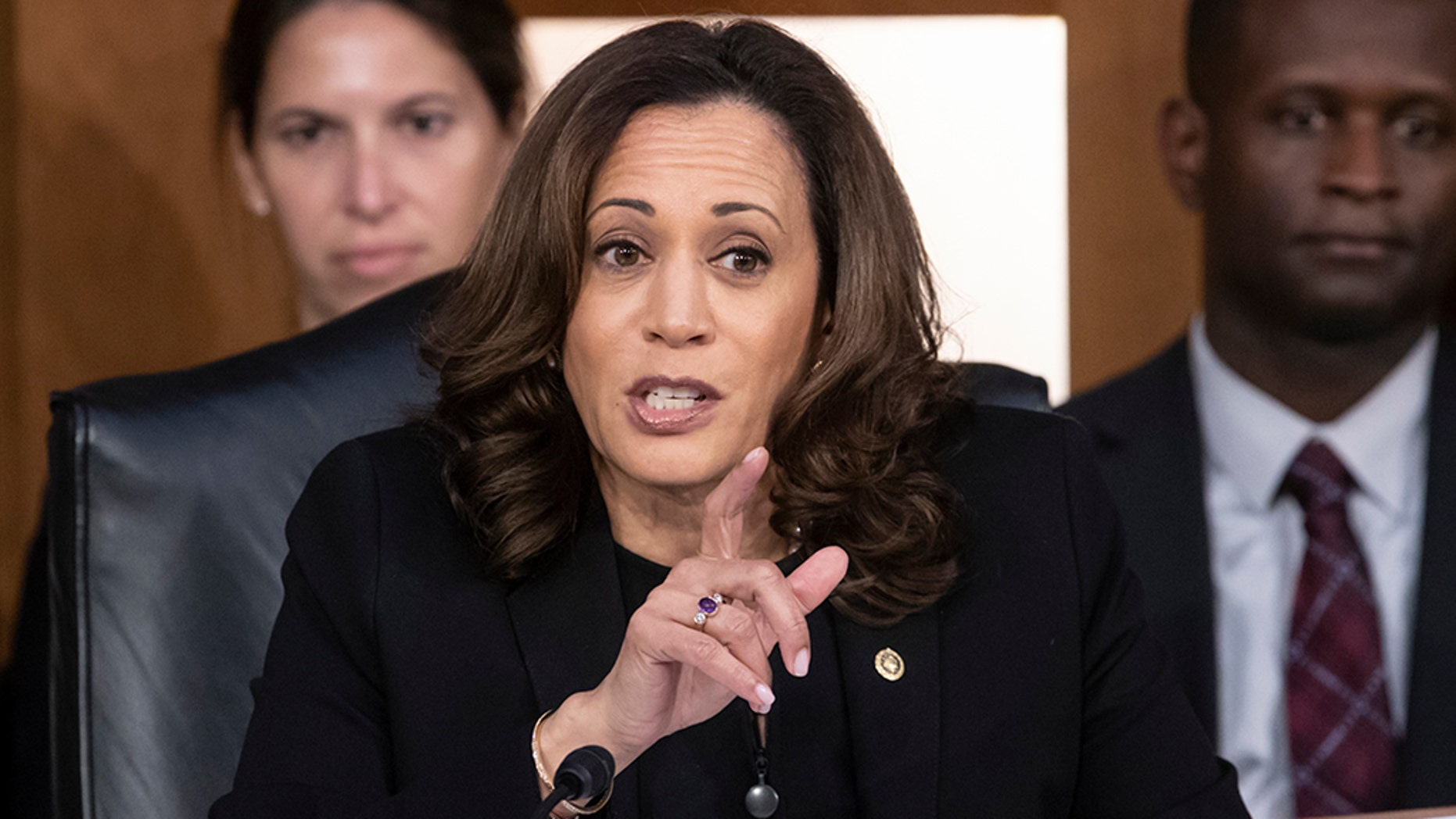 Seen as a potential 2020 presidential contender, Sen. Kamala Harris, D-Calif., garnered attention during Brett Kavanaugh's initial confirmation hearing with her intense questioning. (Associated Press)