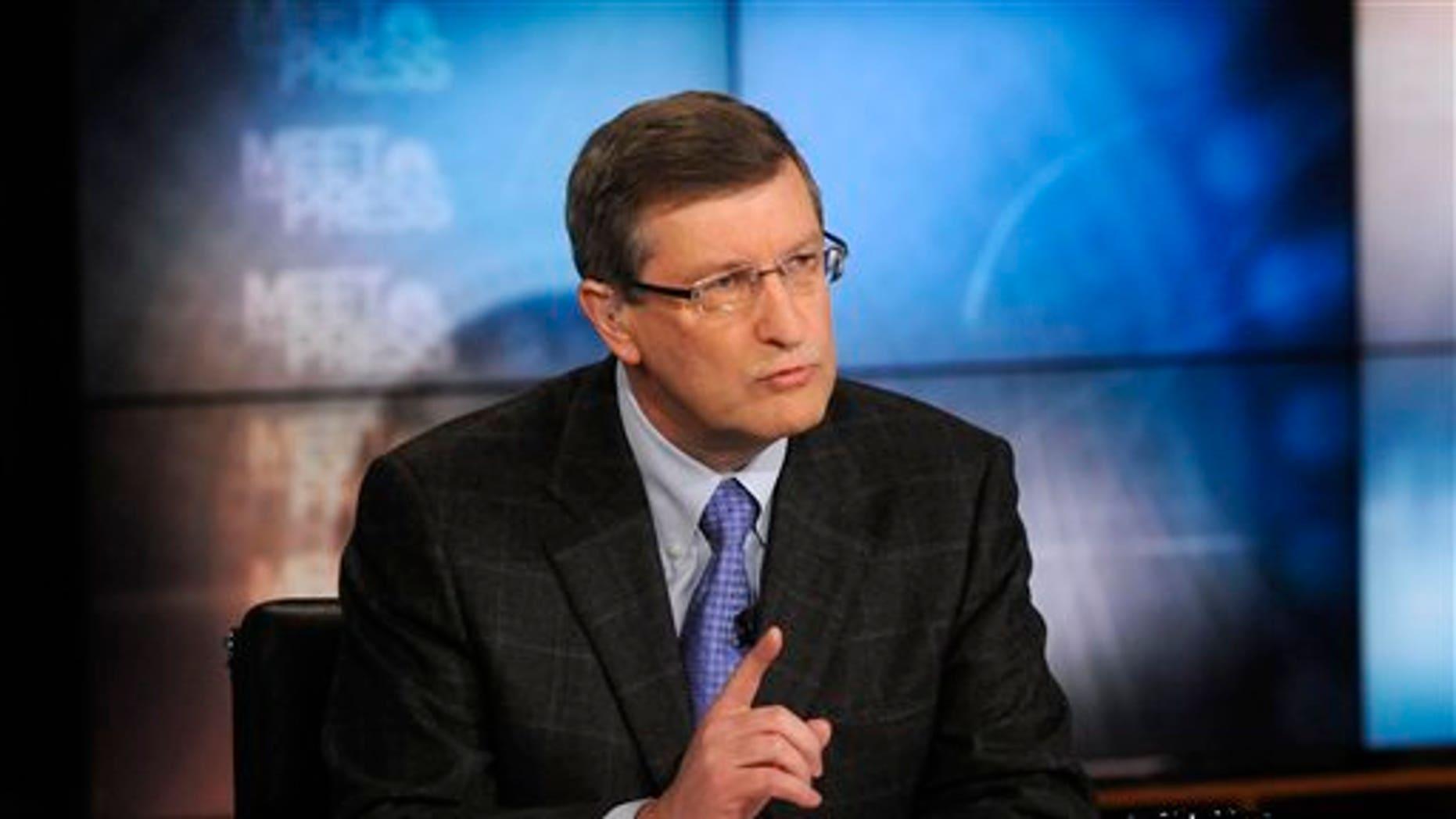 "April 24: Sen. Kent Conrad, D-N.D., appears on NBC's ""Meet the Press"" in Washington."