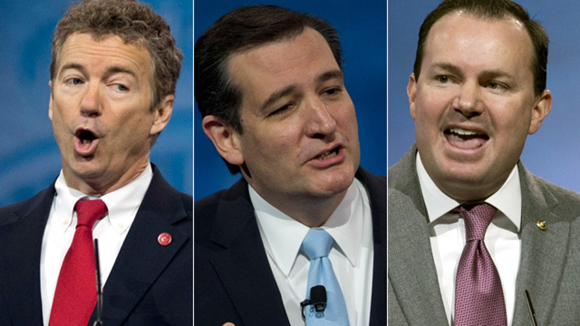 Senators Rand Paul, Ted Cruz and Mike Lee speak at CPAC 2013.