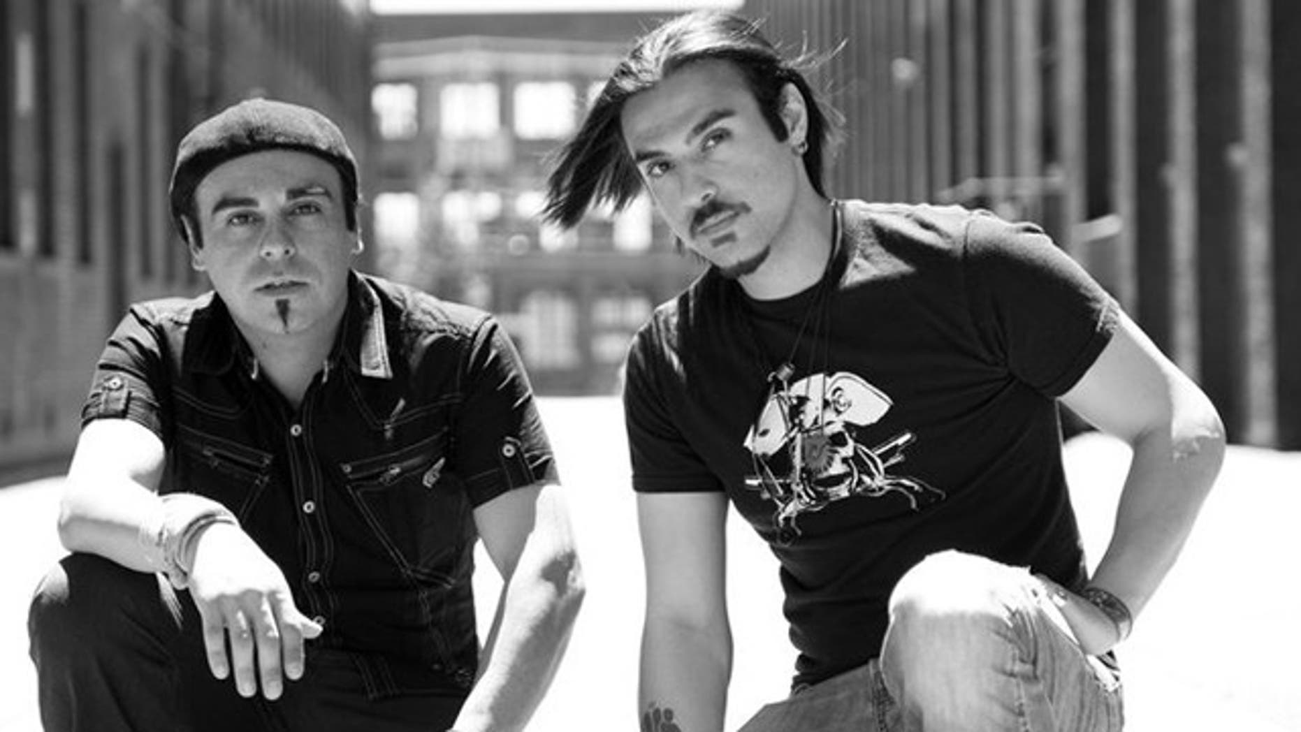 Sohl, 35, left, is a co-founder and bassist for the band Blurred Vision, while his 28-year-old brother and co-founder Sepp, right, plays guitar and is the band's lead singer.