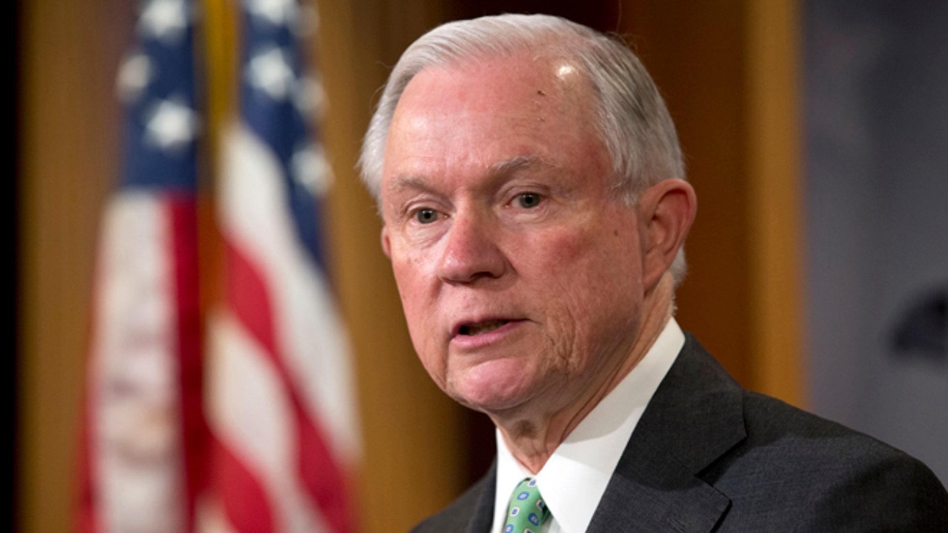 Sen. Jeff Sessions during a news conference on Capitol Hill on June 23, 2016.