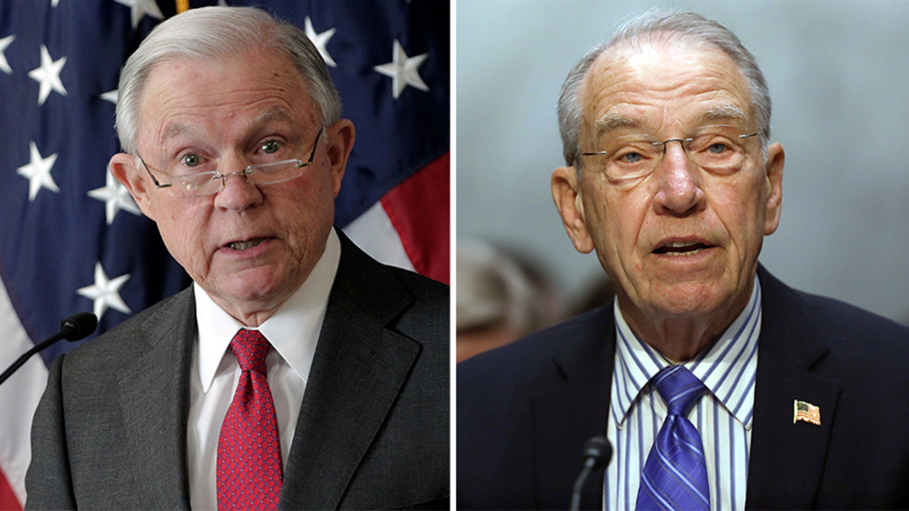 Sen. Chuck Grassley and Attorney General Jeff Sessions argued over sentencing reform this week.