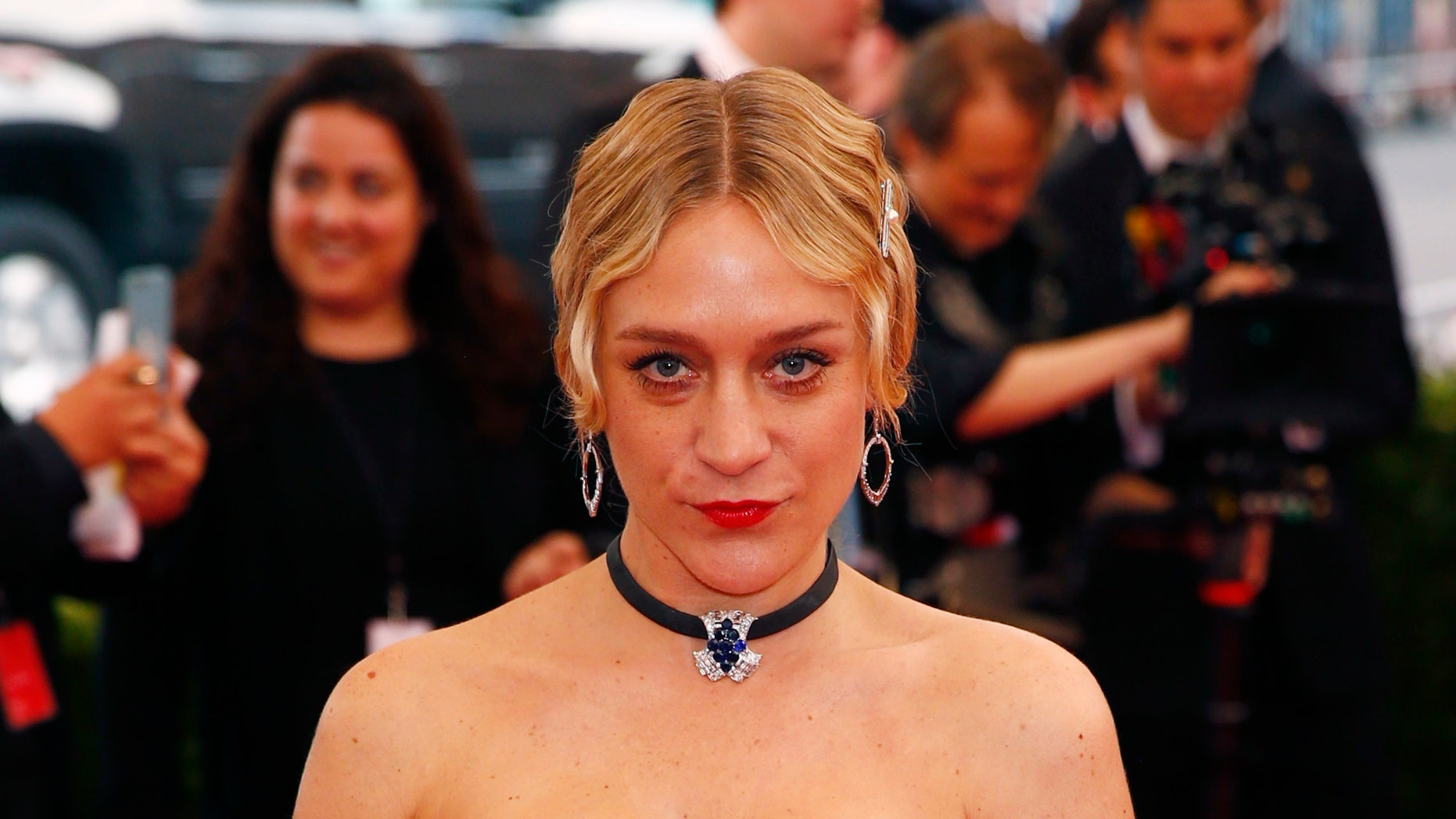 """Chloe Sevigny arrives at the Metropolitan Museum of Art Costume Institute Gala 2015 celebrating the opening of """"China: Through the Looking Glass,"""" in Manhattan, New York May 4, 2015.   REUTERS/Lucas Jackson - RTX1BK11"""