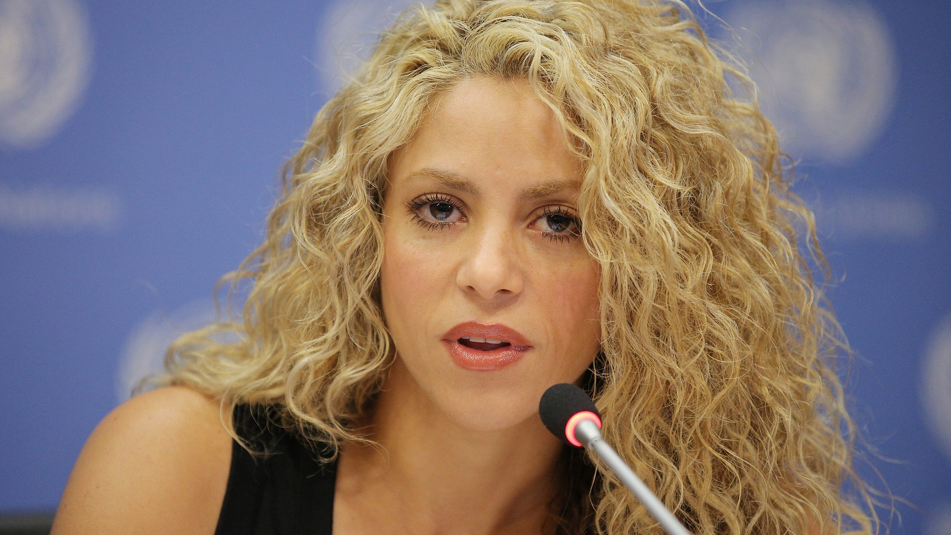 Shakira during a press conference on September 22, 2015 in New York City.