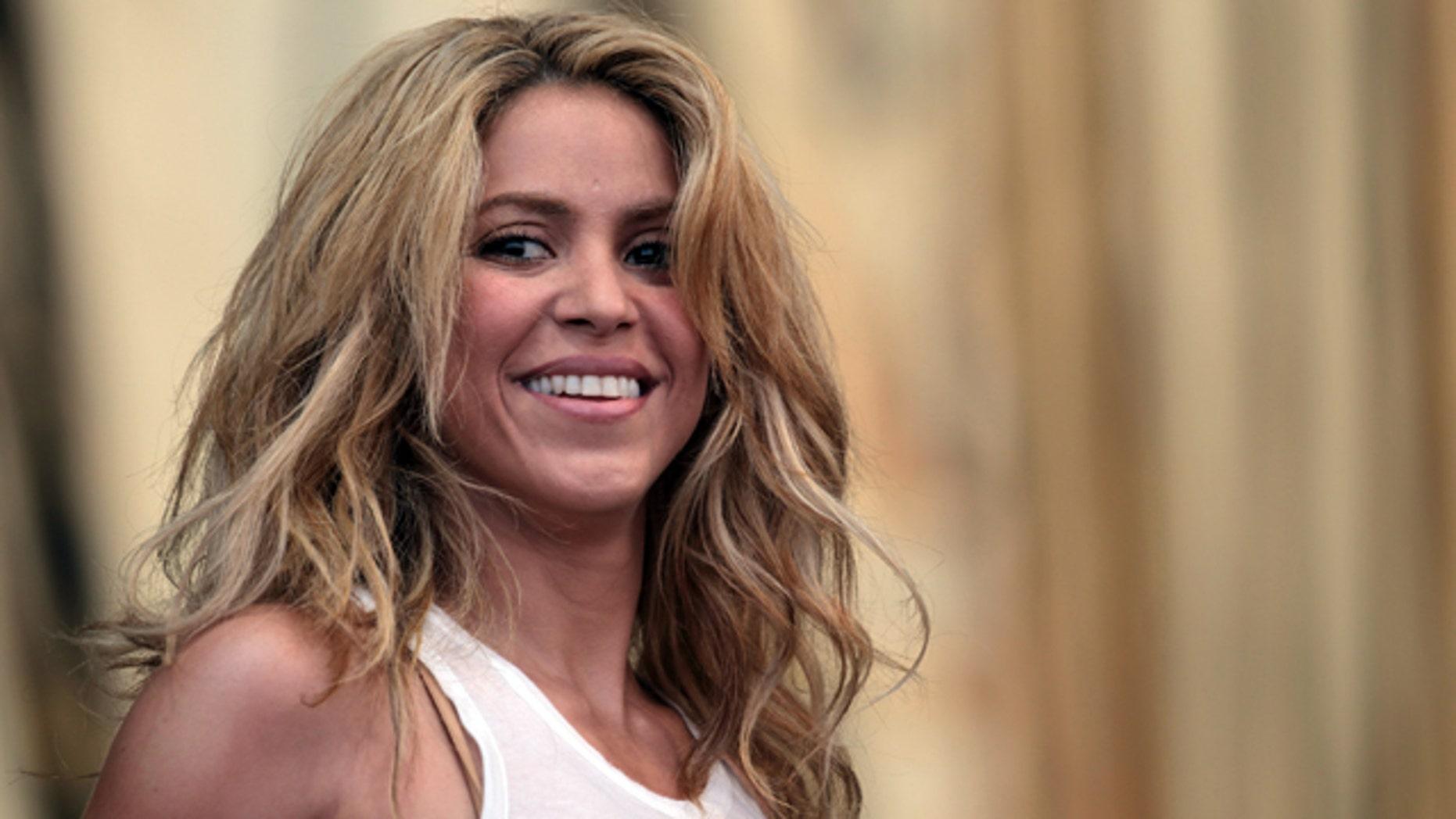 June 26, 2010: Shakira performs on the Pyramid Stage at the 2010 40th Glastonbury Festival at Worthy Farm, Pilton  in Glastonbury, England.