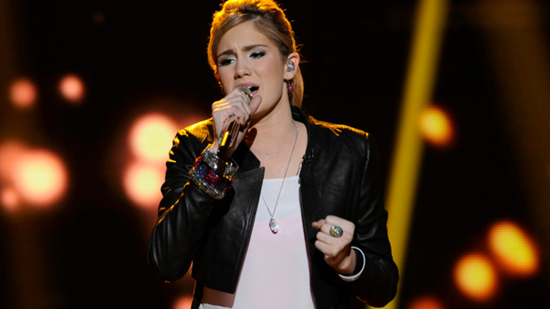 """March 7, 2012: Contestant Shannon Magrane, 16, of Tampa, Fla., performs on """"American Idol"""" in Los Angeles."""