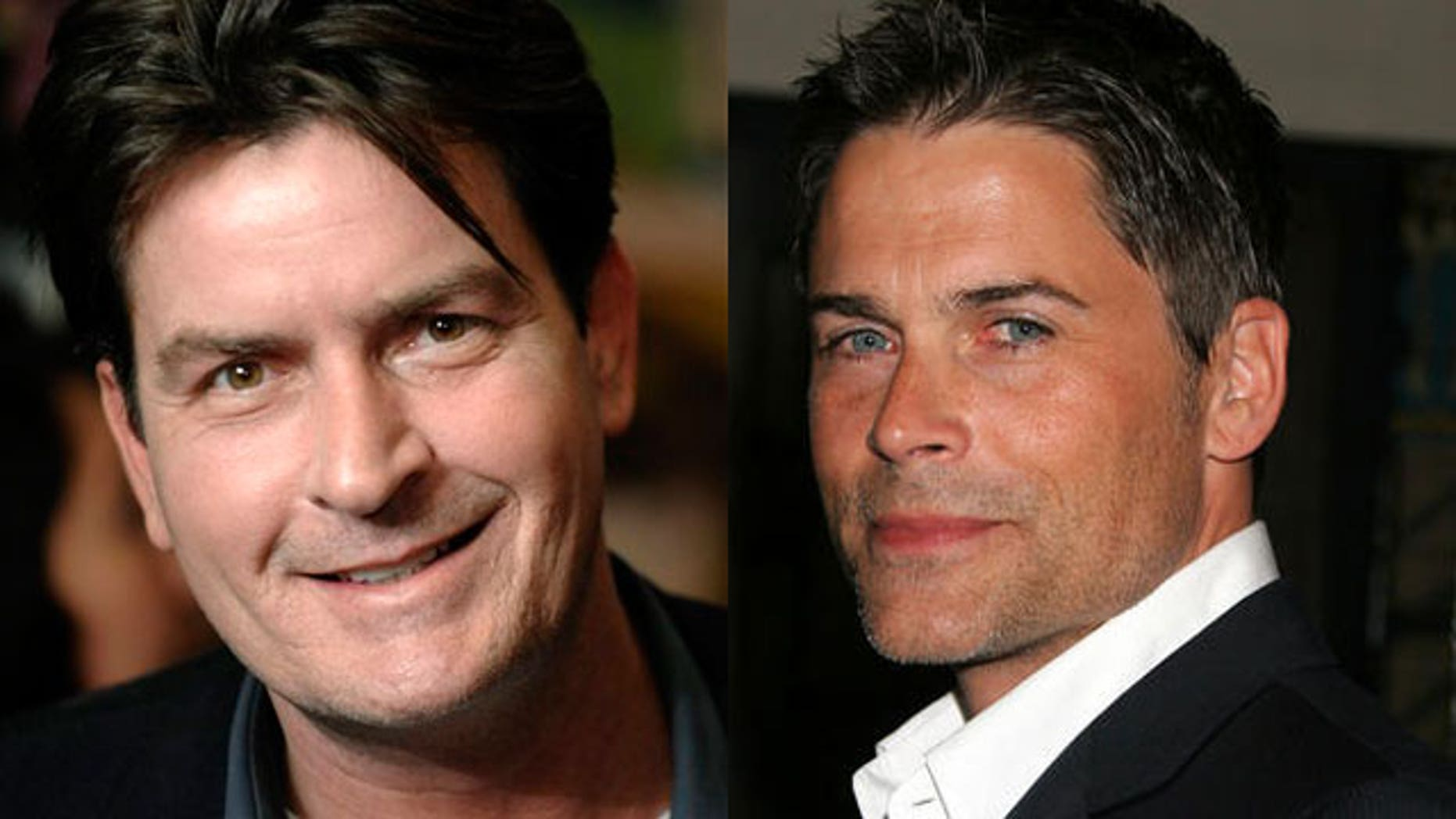 Charlie Sheen (L) could be replaced with Rob Lowe on 'Two and a Half Men,' according to a report. (AP)