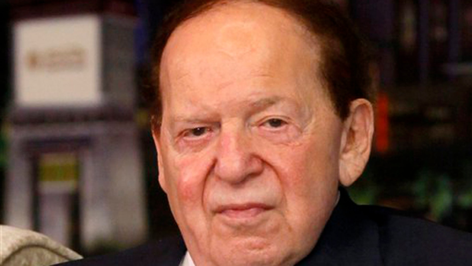 April 12, 2012: In this file photo, Las Vegas Sands Chairman and CEO Sheldon Adelson speaks at a news conference for the Sands Cotai Central in Macau.