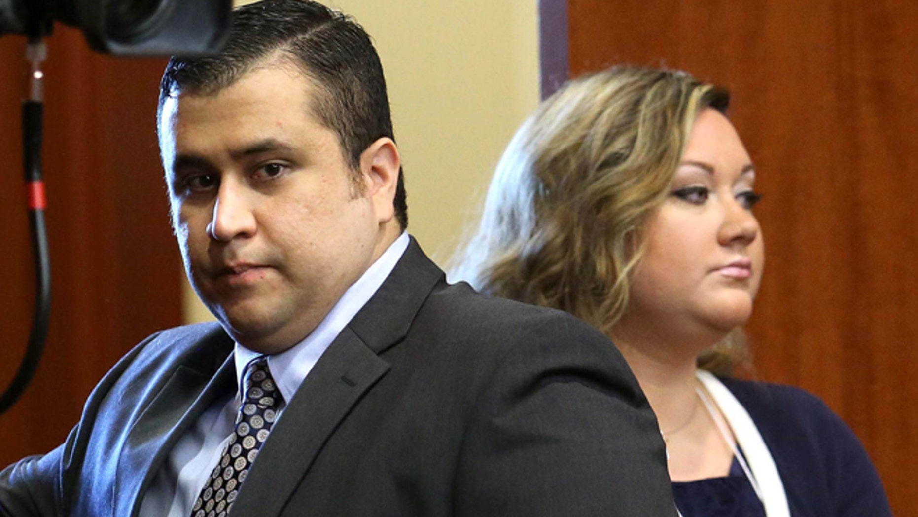 George Zimmerman with his wife Shellie in Sanford, Fla. in June 24, 2013.