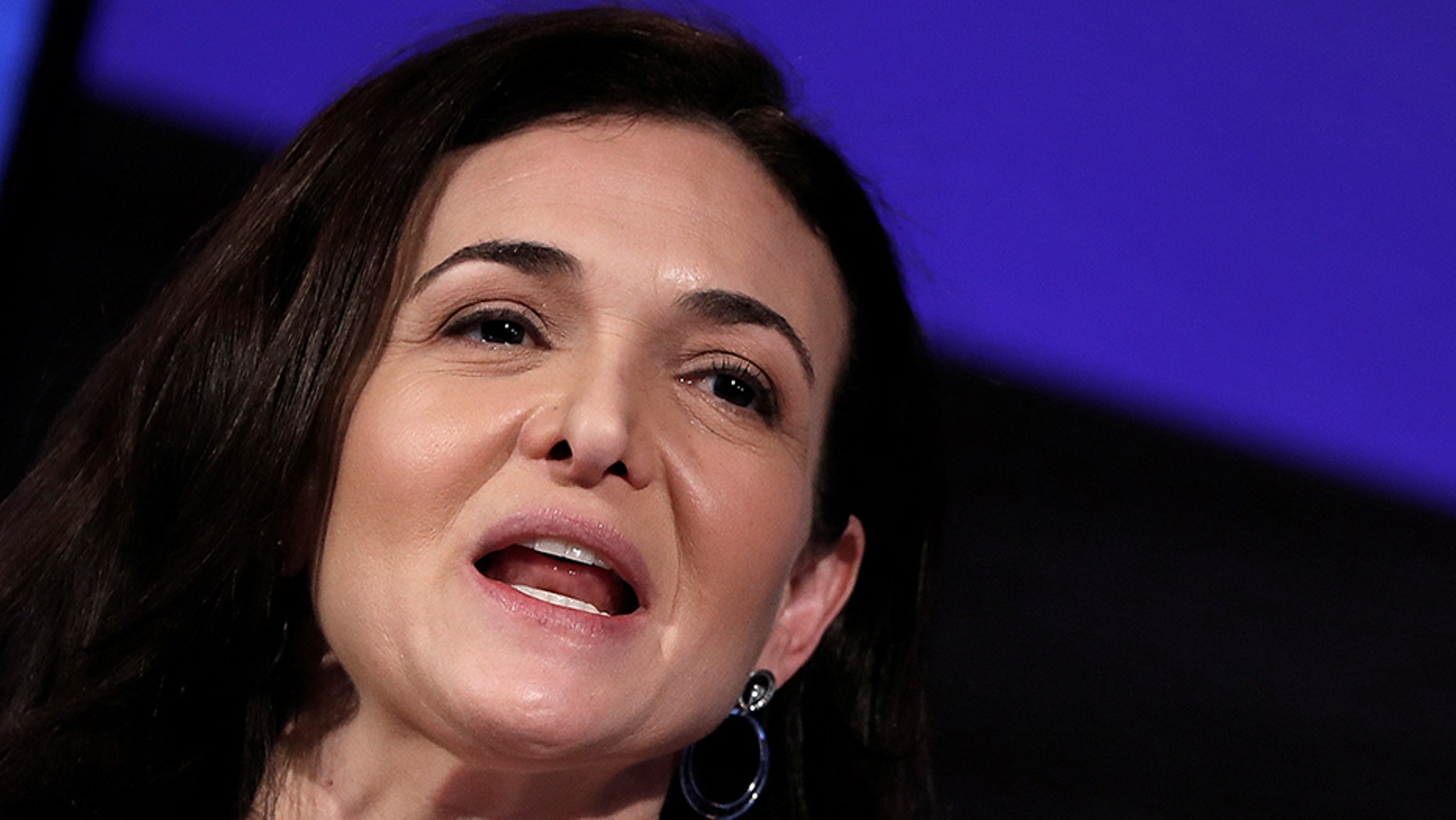 File photo - Sheryl Sandberg, Facebook's chief operating officer, addresses the Facebook Gather conference in Brussels, Belgium January 23, 2018. (REUTERS/Yves Herman)