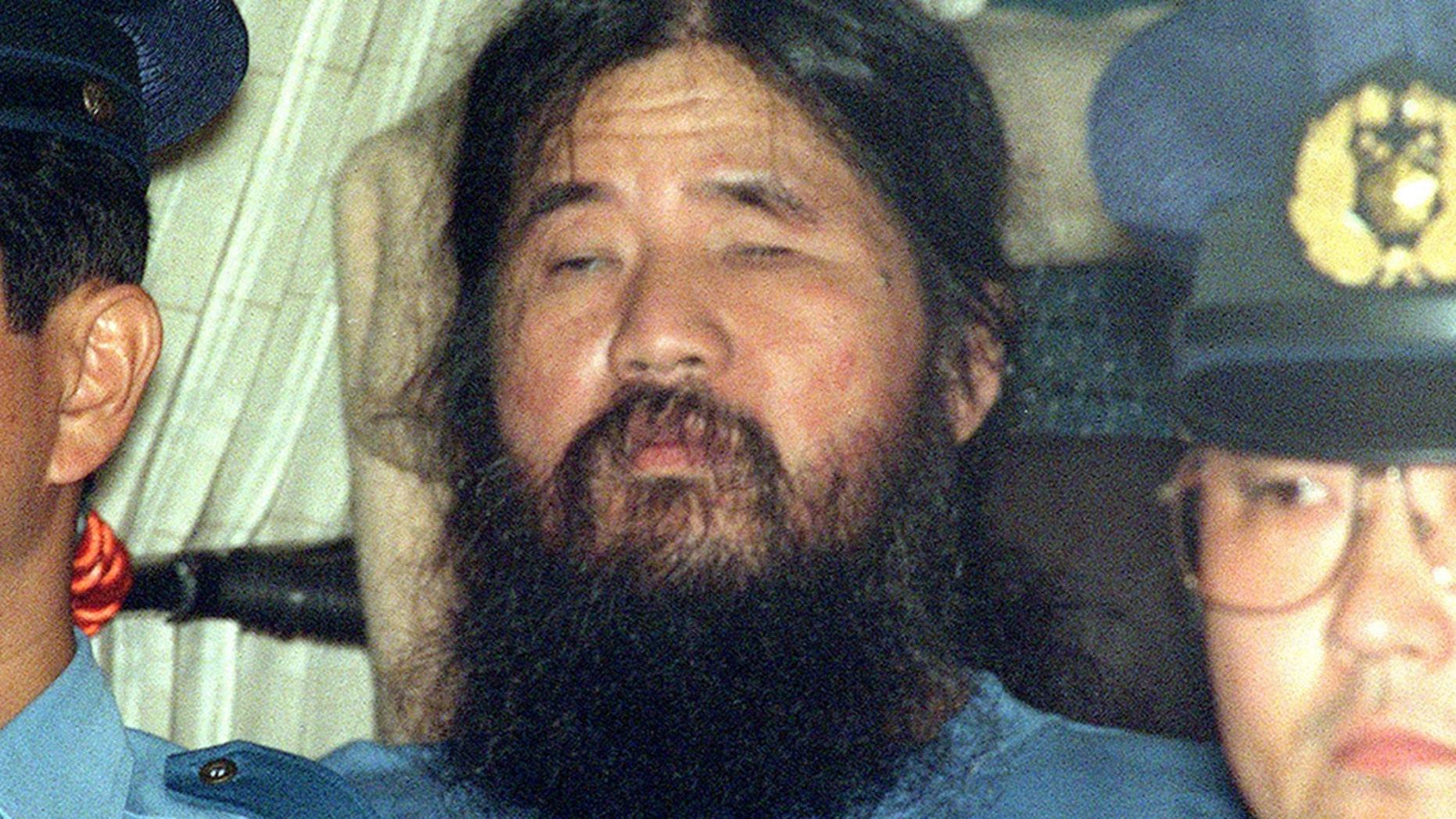 This September 1995 photo shows cult leader Shoko Asahara, whose real name is Chizuo Matsumoto.