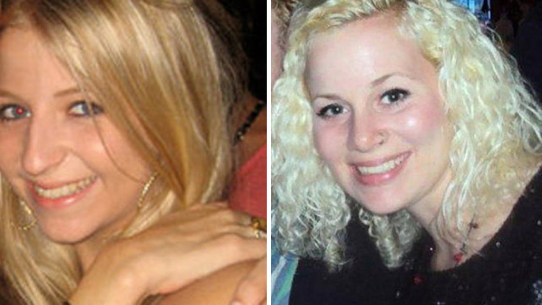 FILE: This photo shows Lauren Spierer, left, and Mickey Shunick.