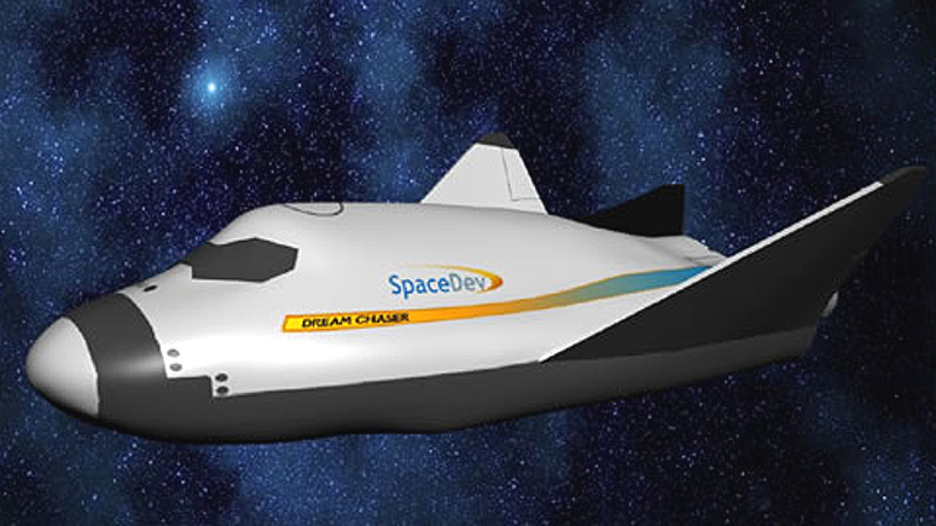 Dream Chaser, a design for a human grade spacevehicle in contention to replace NASA's aging space shuttle fleet.