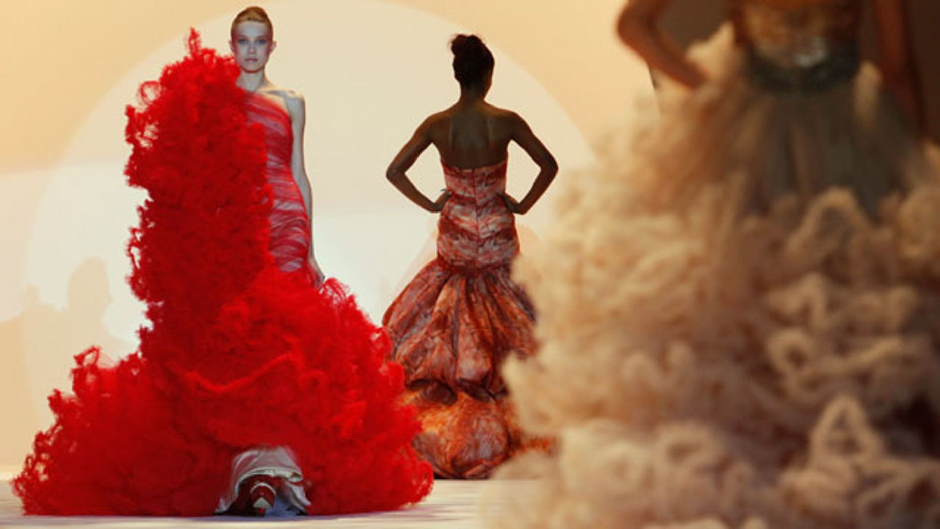 Sept. 9: Christian Siriano debuted his Spring 2011 collection at New York Fashion Week Thursday.